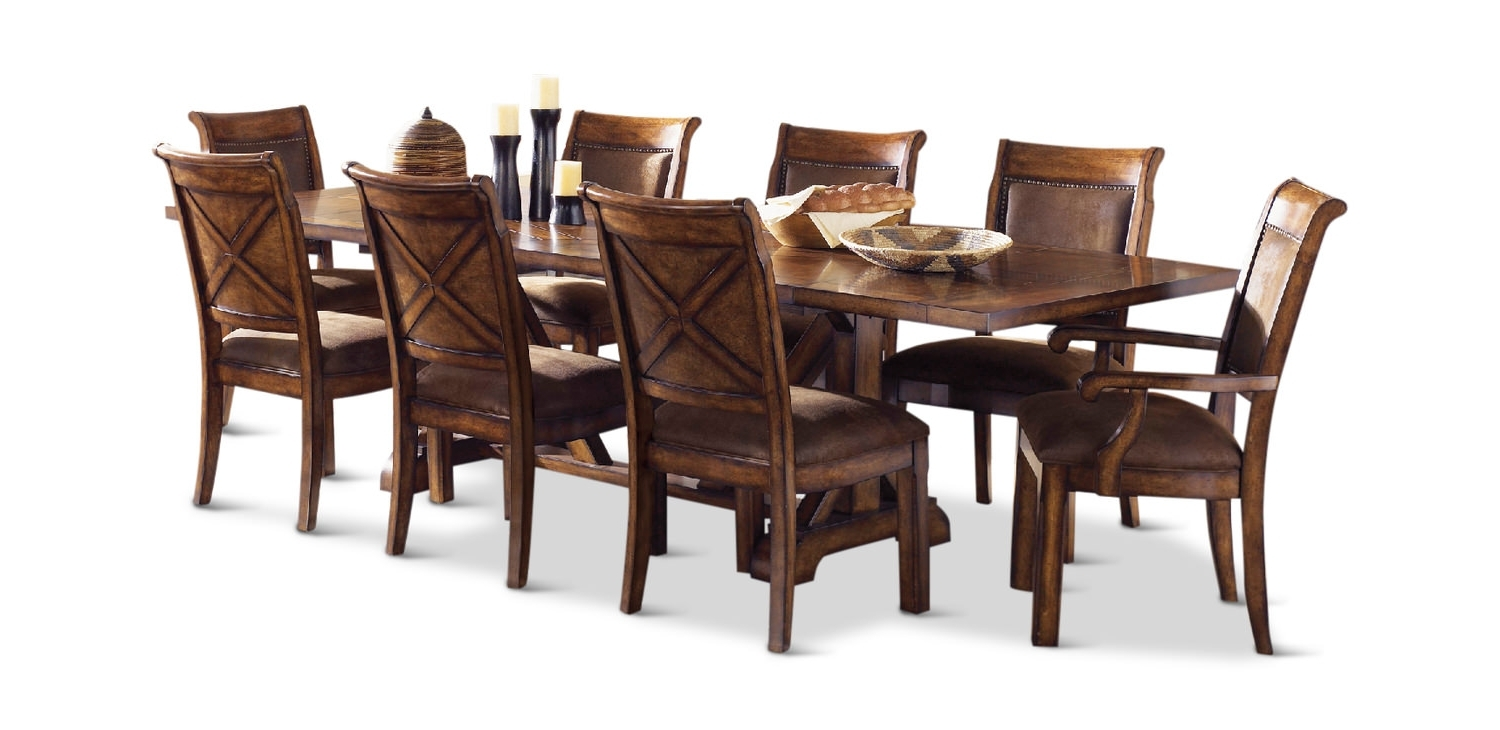 Preferred Magnolia Home Captain Arm Chairs With Larkspur Table With 4 Side Chairs And 2 Arm (View 12 of 20)