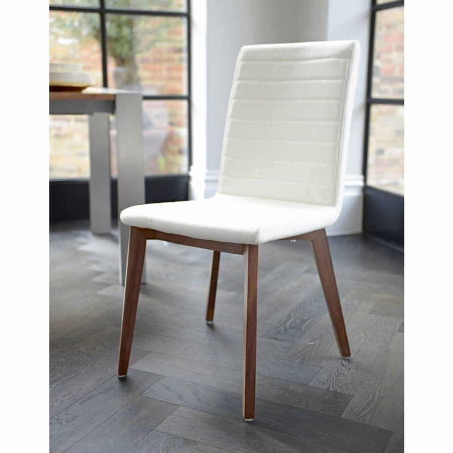 Preferred Parquet Dining Chair Faux Leather, Cream – Brandalley Within Parquet Dining Chairs (View 7 of 20)