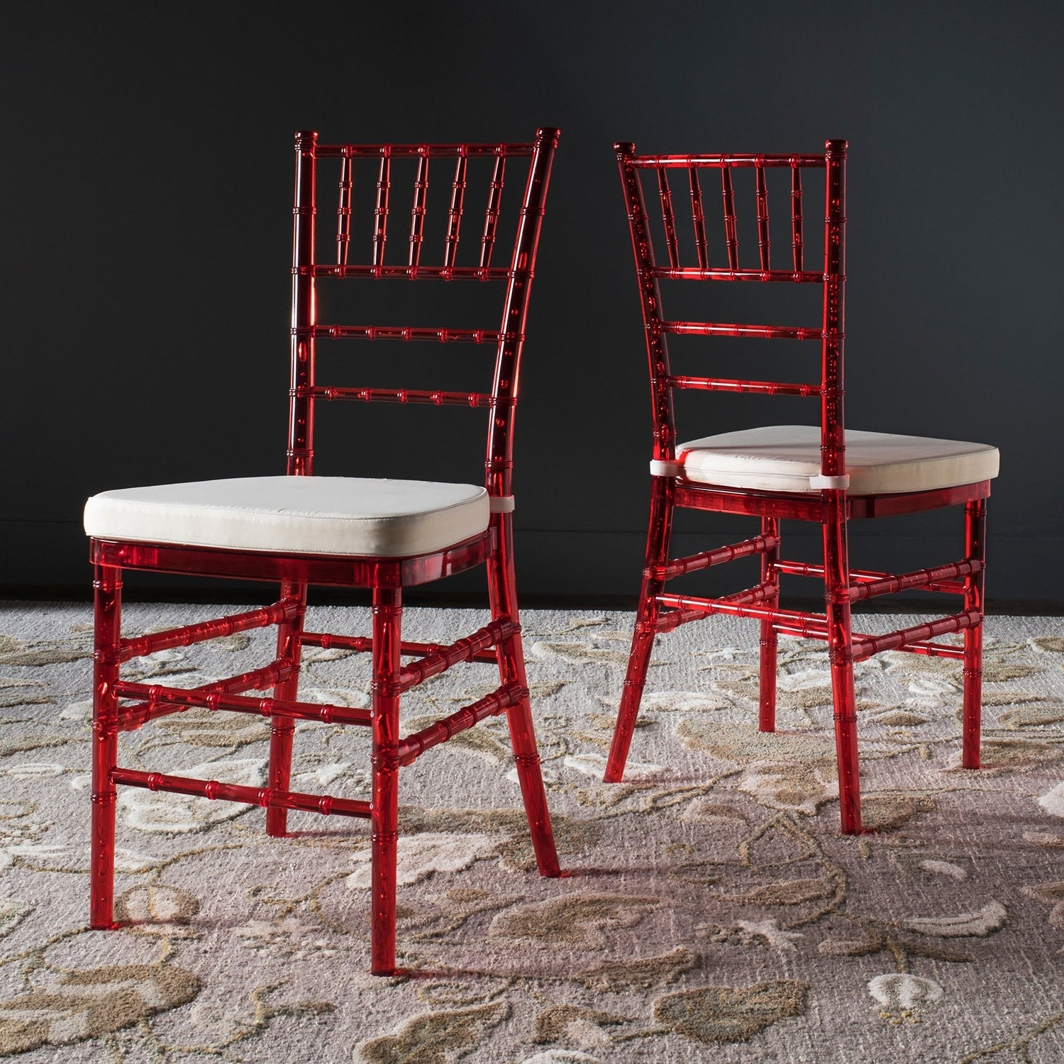 Preferred Safavieh Country Classic Dining Carly Red Dining Chairs (Set Of 2 With Carly Side Chairs (View 14 of 20)