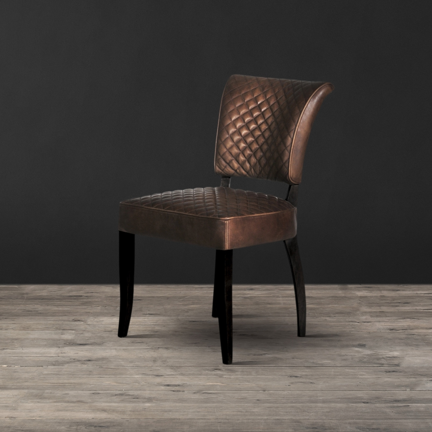 Quilted Brown Dining Chairs Intended For Newest Timothy Oulton Mimi Quilt Dining Chair – Black Oak Legs (View 12 of 20)