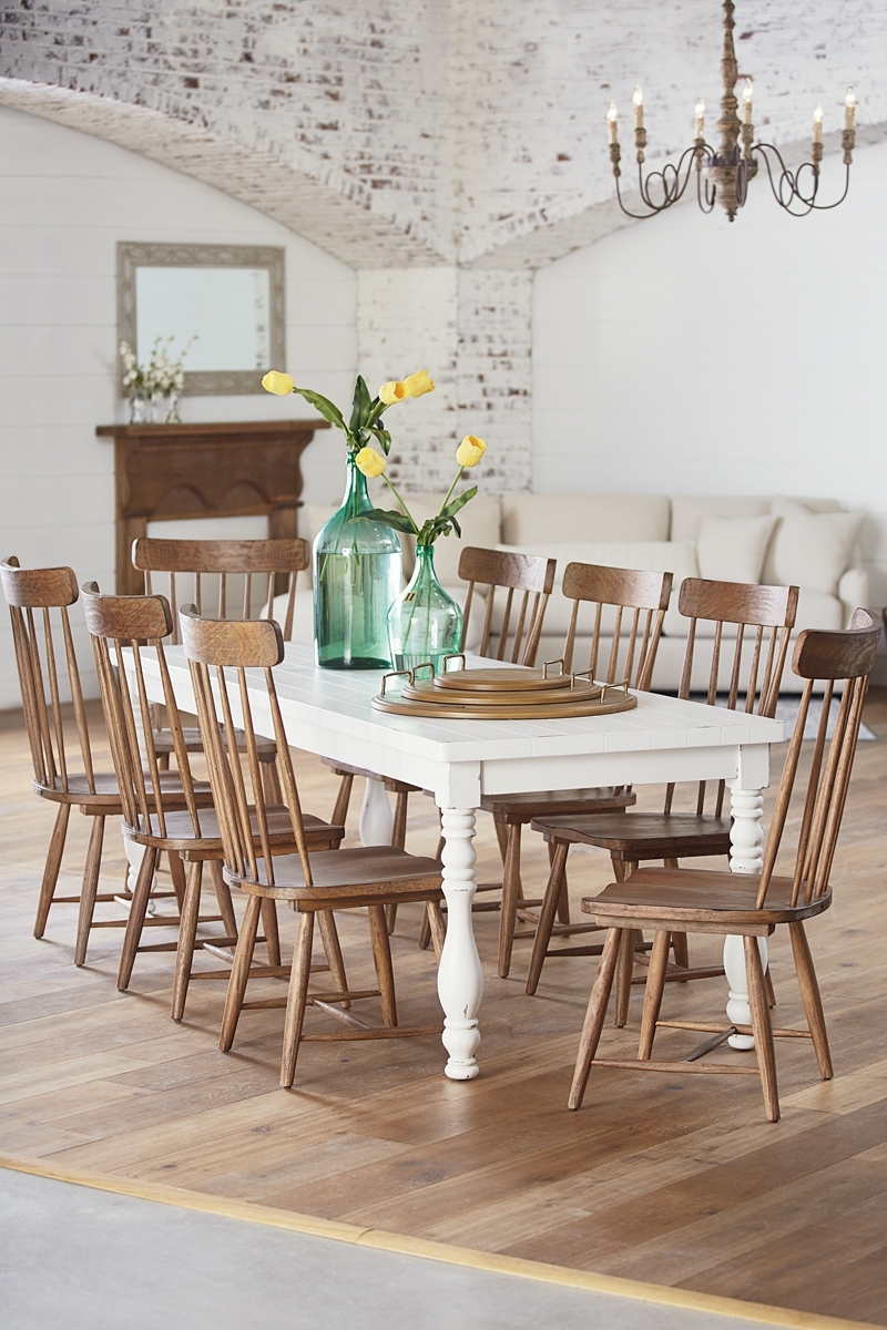 Recent Beautiful Farmhouse Dining Table Styles Designs – Home Decor Ideas Within Magnolia Home Kempton White Side Chairs Bjg (View 17 of 20)