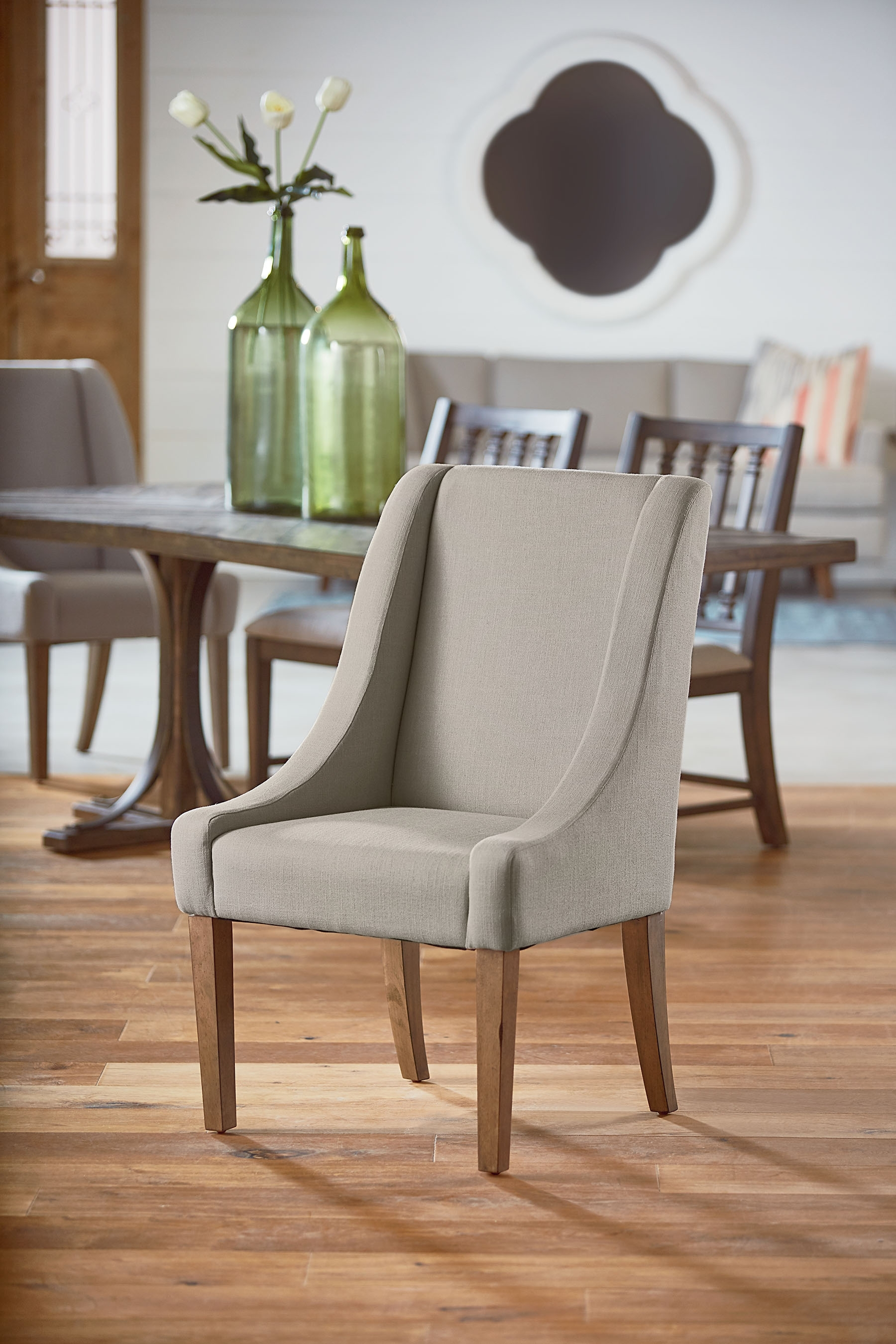 Recent Magnolia Home Demi Flannel Wing Side Chairs Intended For Demi Wing Side Chair – Magnolia Home (Gallery 3 of 20)