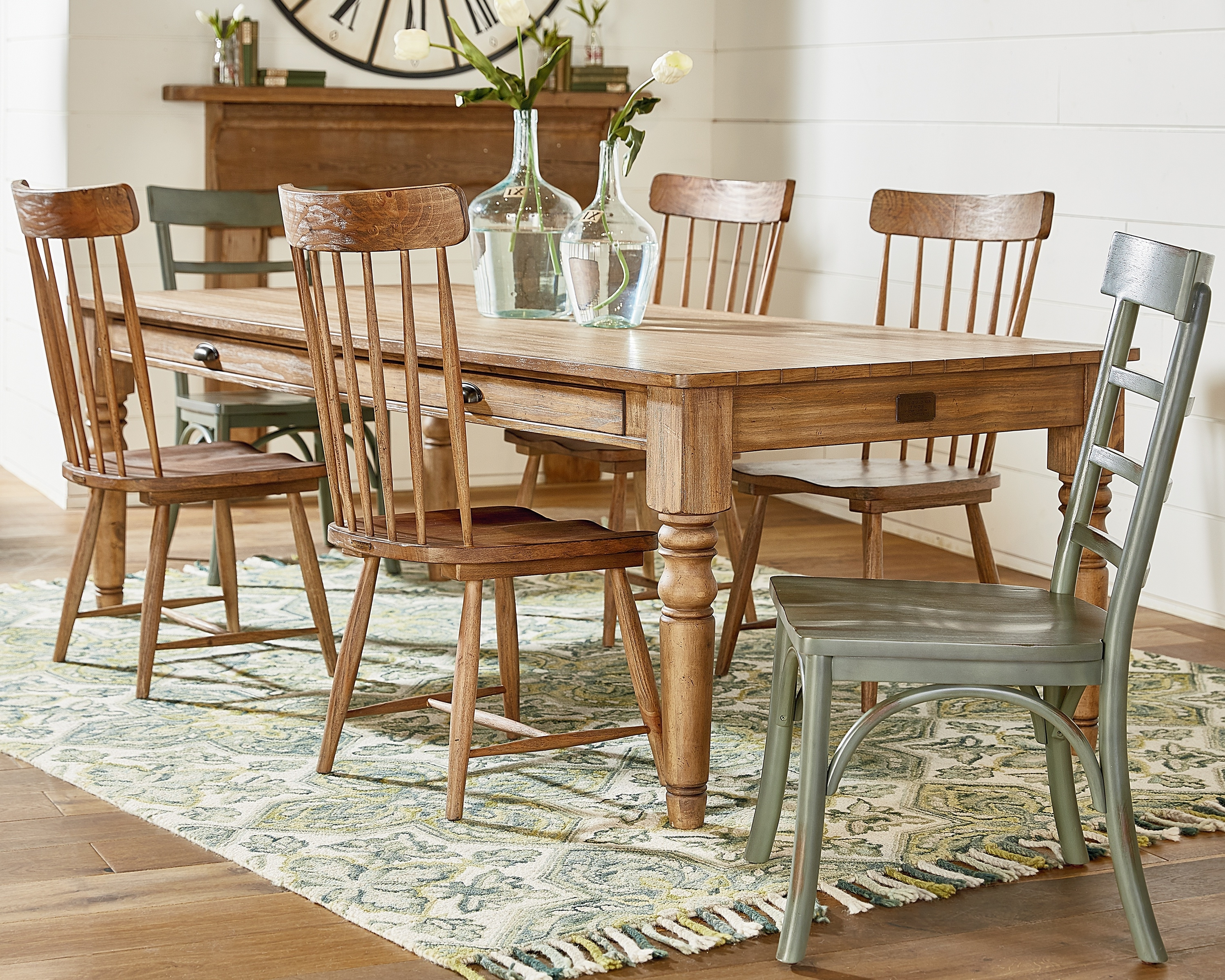 Recent Magnolia Home Harper Patina Side Chairs Inside Taper Turned + Spindle Back – Magnolia Home (Gallery 7 of 20)