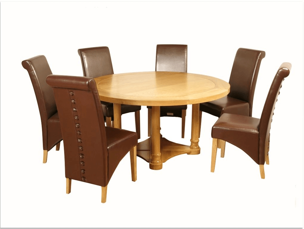 Recent Rocco Side Chairs Throughout Rocco Round Dining Set – Furniture Shop Dublin (View 12 of 20)