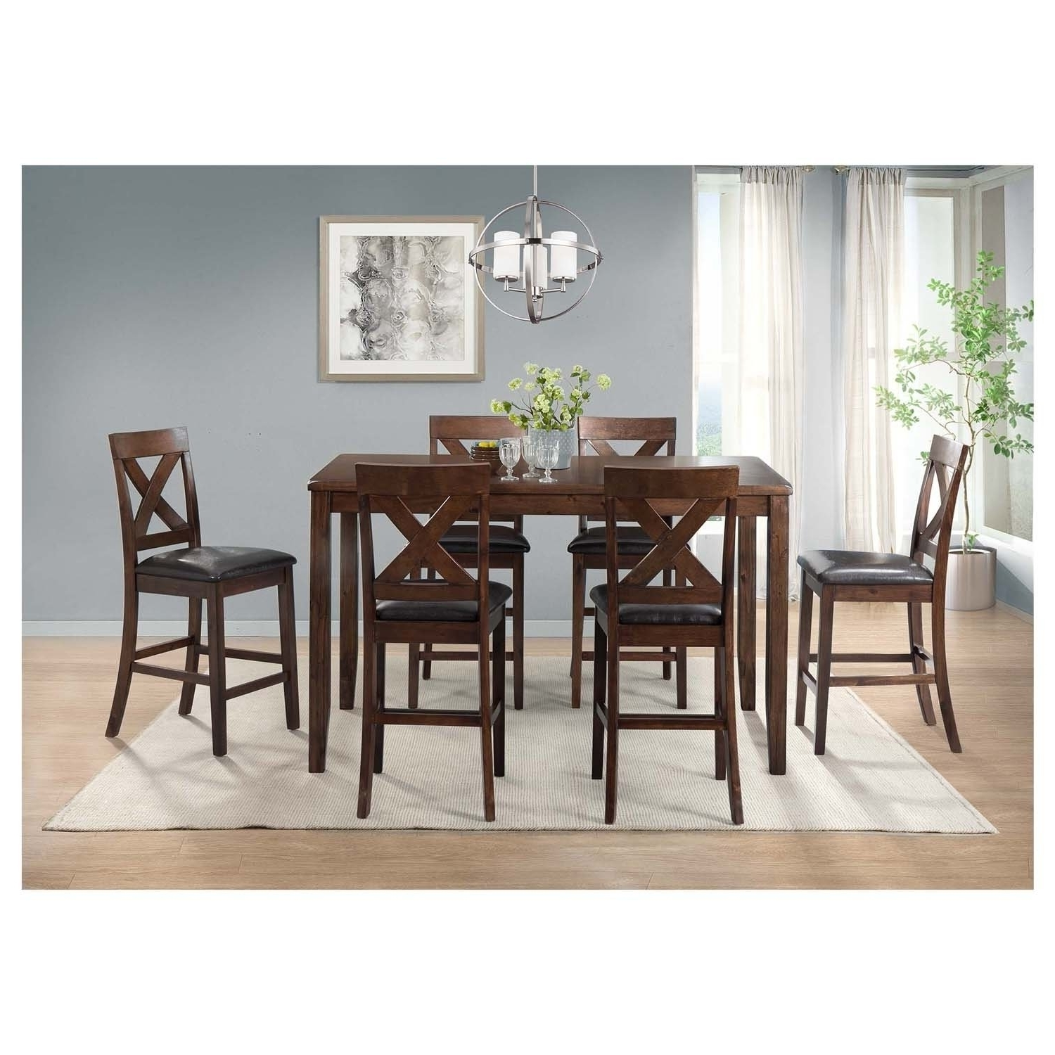 Recent Shop Picket House Furnishings Alexa 7Pc Dining Set – Ships To Canada In Alexa White Side Chairs (Gallery 18 of 20)