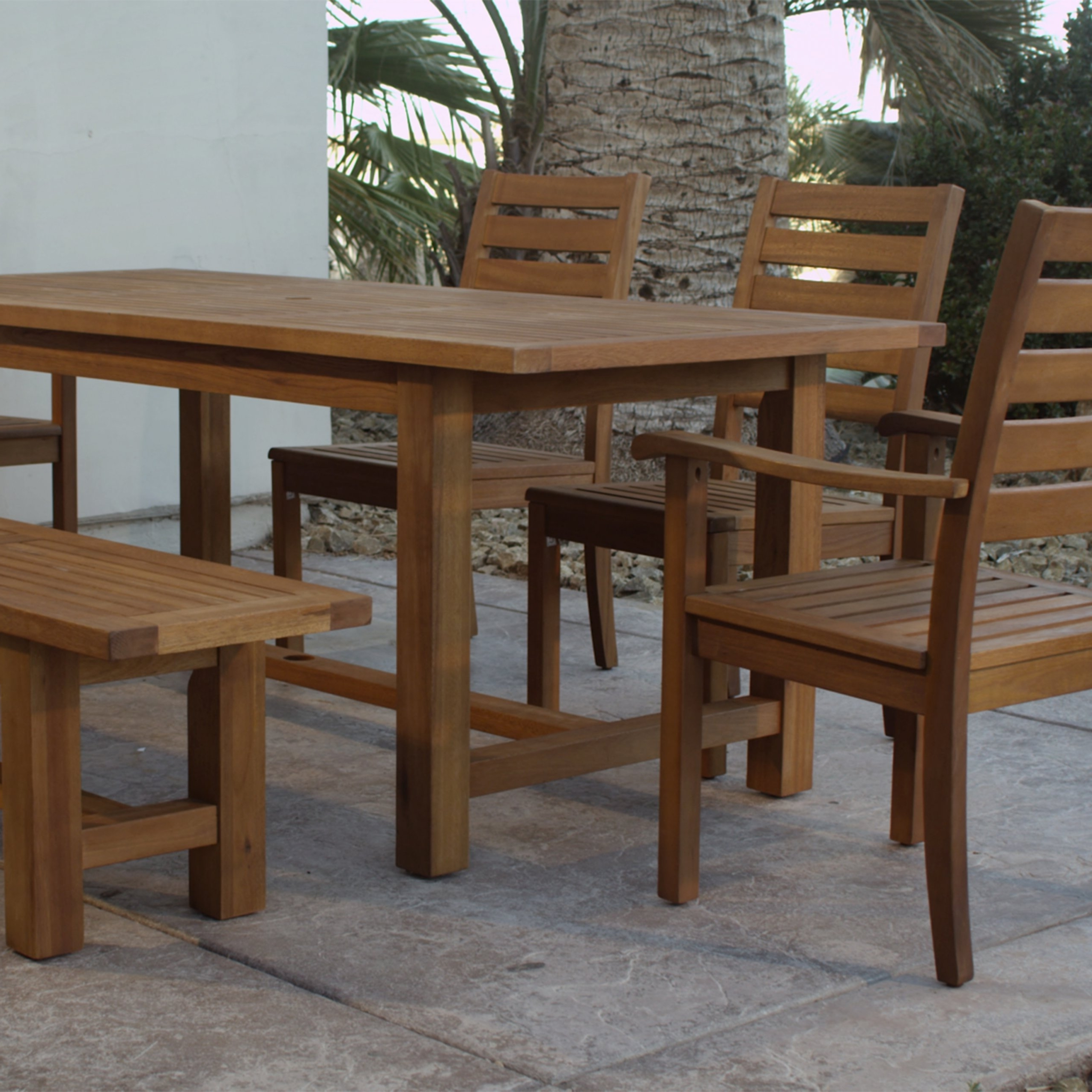 Recent Wood Praiano Outdoor Dining Side Chair (Gallery 12 of 20)