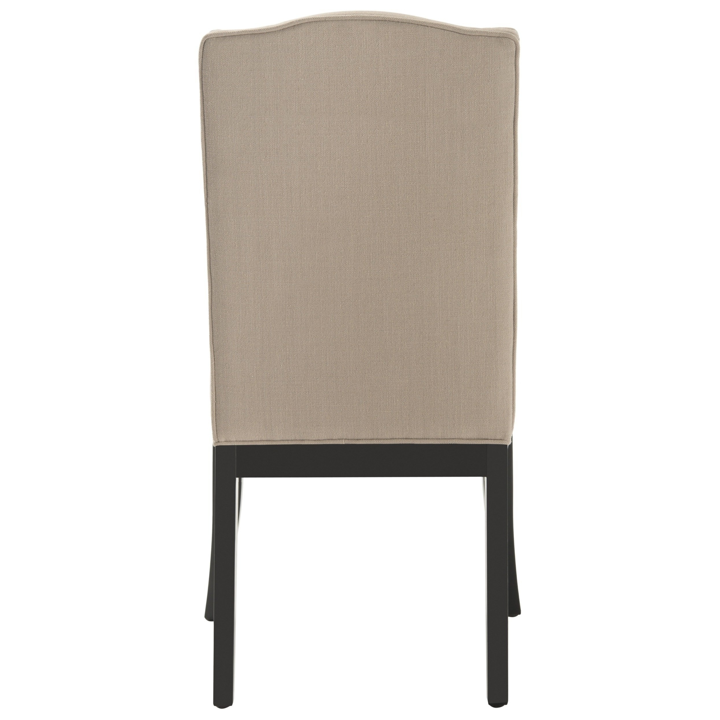 Safavieh En Vogue Dining Laurent Taupe Nailhead Dining Chairs (set For Favorite Laurent Wood Side Chairs (View 11 of 20)
