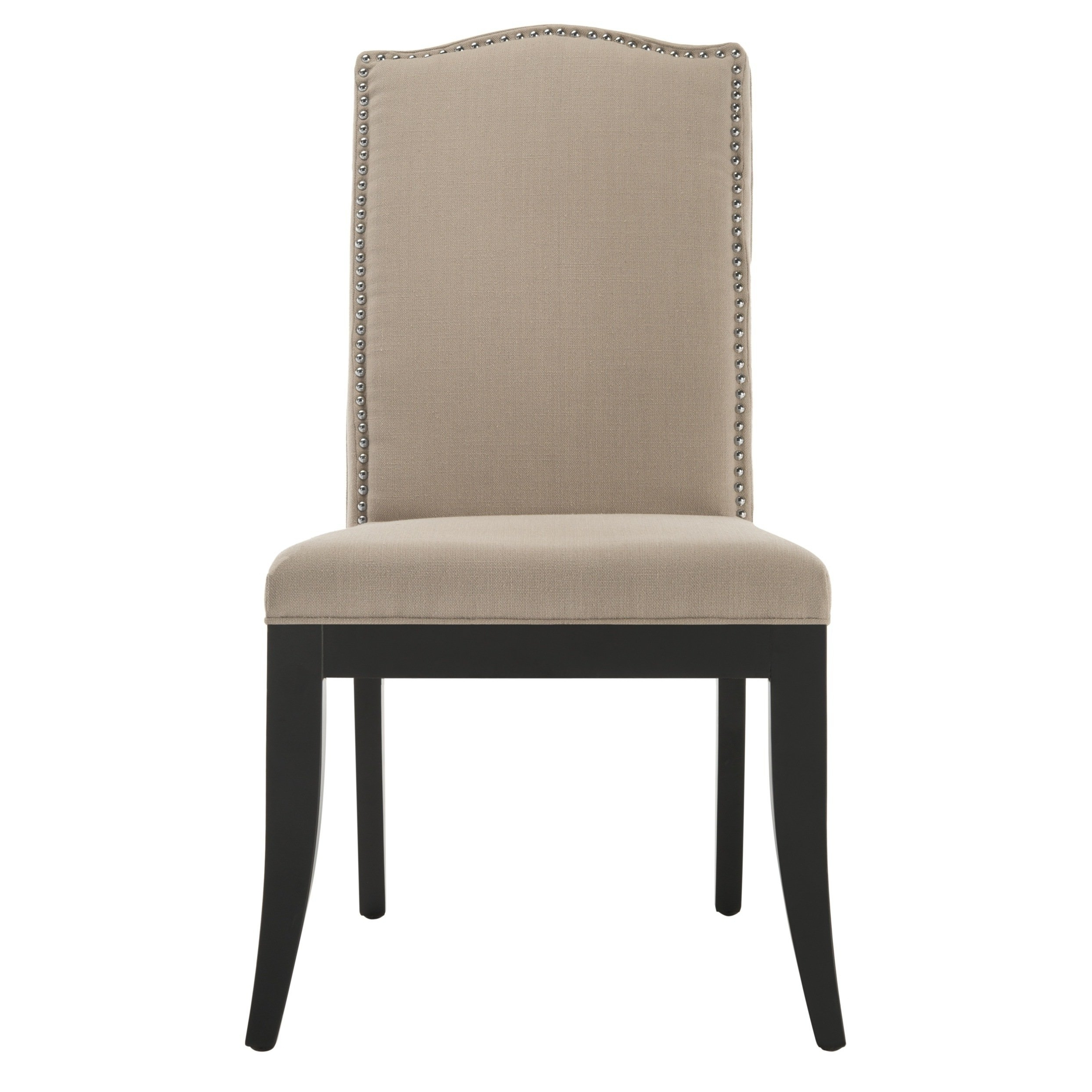 Safavieh En Vogue Dining Laurent Taupe Nailhead Dining Chairs (set Regarding Popular Laurent Upholstered Side Chairs (View 14 of 20)