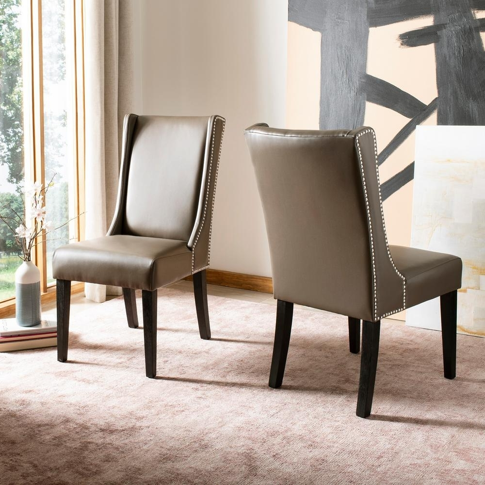Safavieh Sher Clay/espresso Bicast Leather Side Chair (Set Of 2 Throughout Favorite Clay Side Chairs (View 16 of 20)