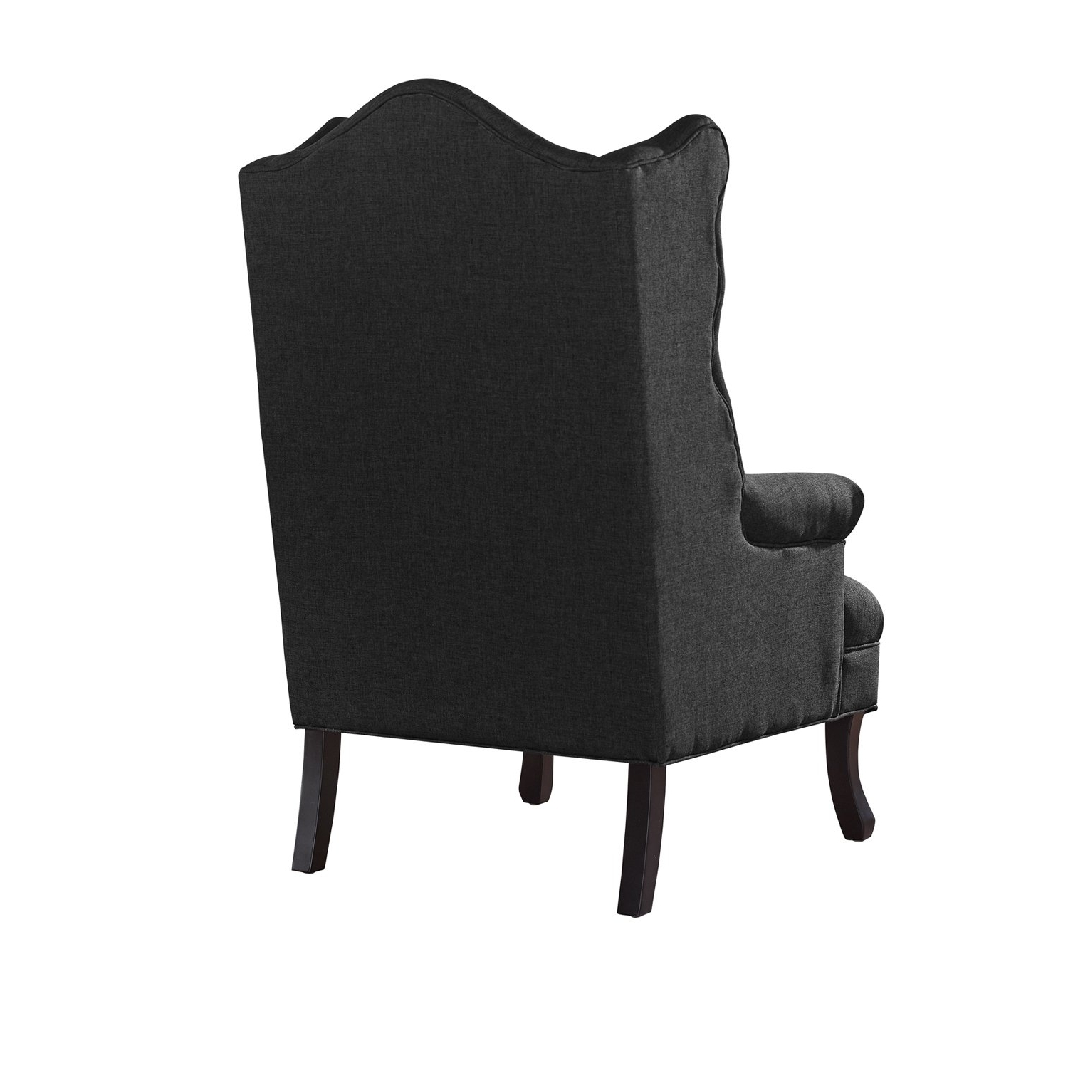 Shop Baxton Studio Norwood Grey Fabric Upholstered Wing Back Accent With Famous Norwood Upholstered Hostess Chairs (View 13 of 20)