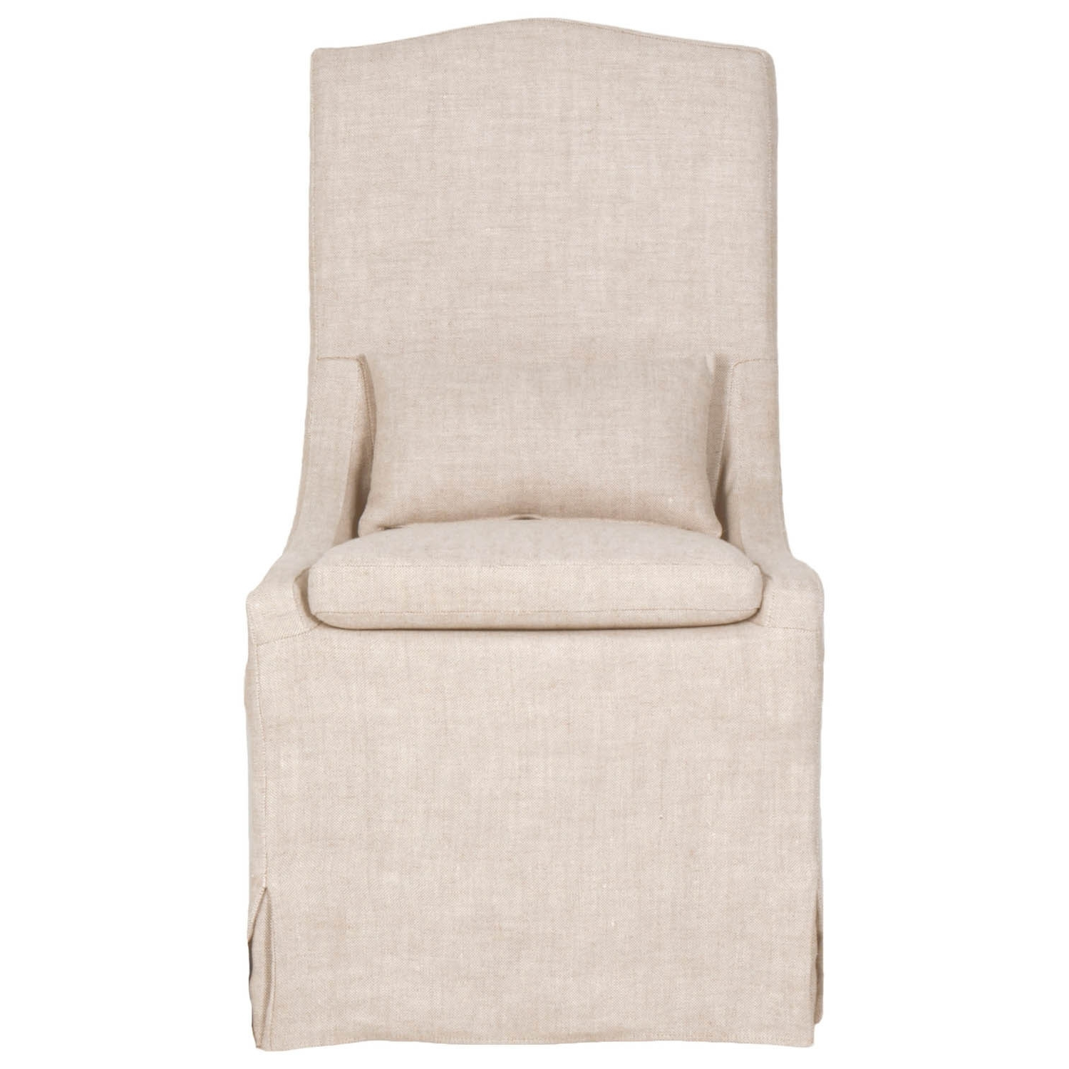 Shop Gray Manor Carmen Cream Linen Dining Chairs (Set Of 2) – Free Regarding Fashionable Garten Marble Skirted Side Chairs Set Of (View 5 of 20)