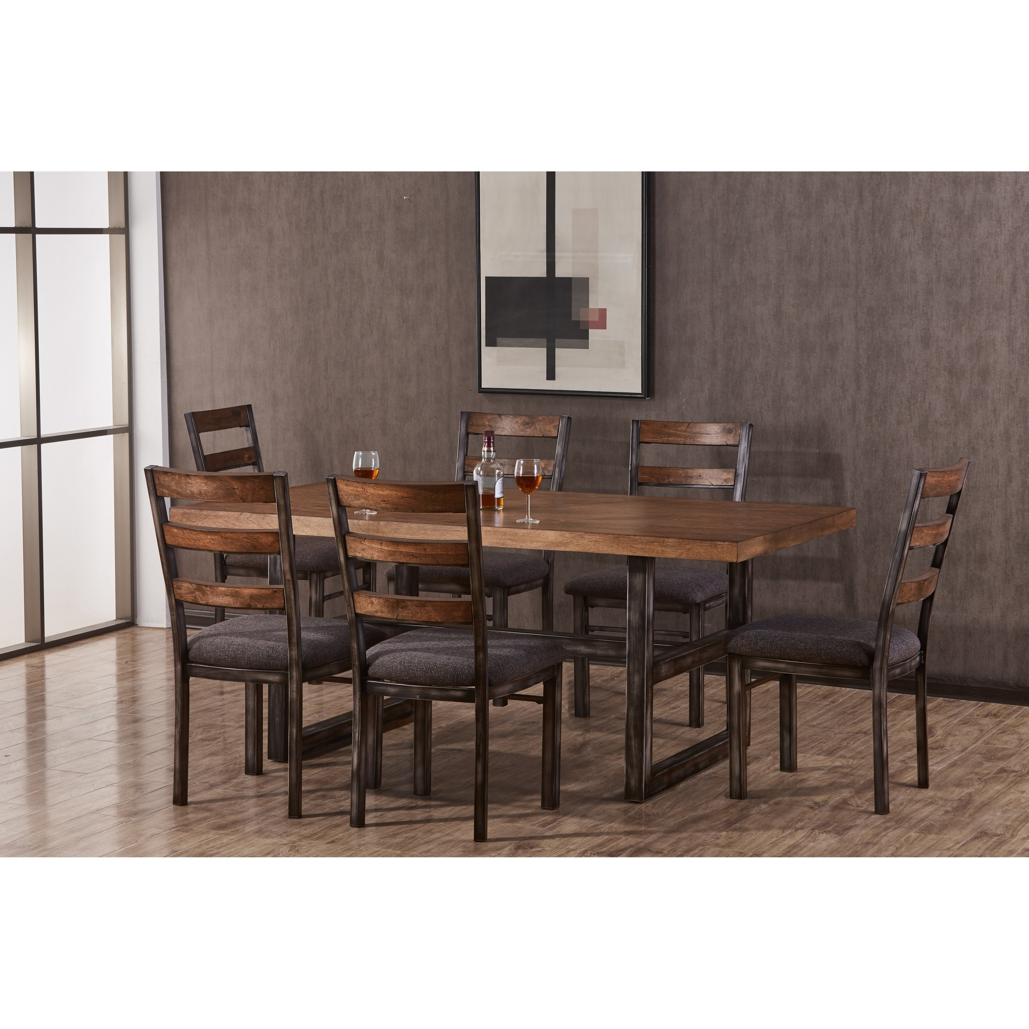 Shop Lane Chandler Black Hand Distressed Metal Dining Chair (Set Of Within Latest Chandler Fabric Side Chairs (View 15 of 20)