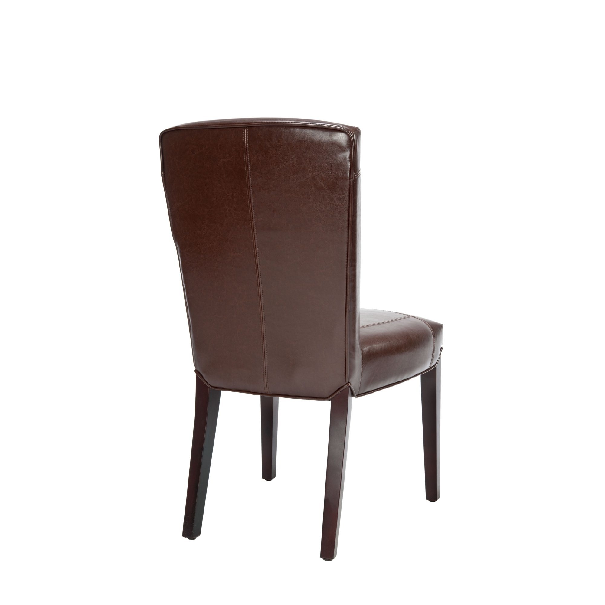 Shop Safavieh Parsons Dining Bowery Brown Marbled Leather Dining In 2018 Bowery Ii Side Chairs (View 6 of 20)