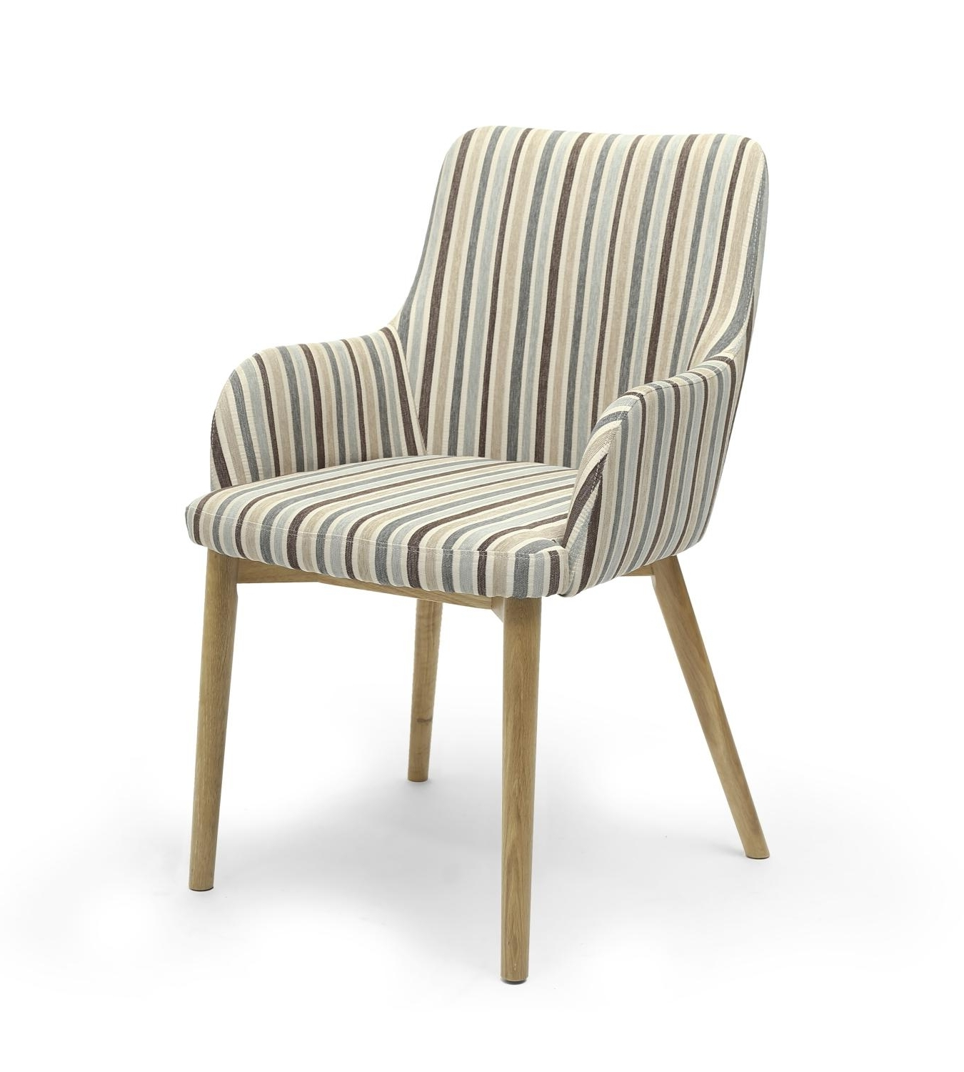 Sidcup Duck Egg Blue Stripe Dining Chair – L'amore Furnishings Intended For Latest Blue Stripe Dining Chairs (View 16 of 20)