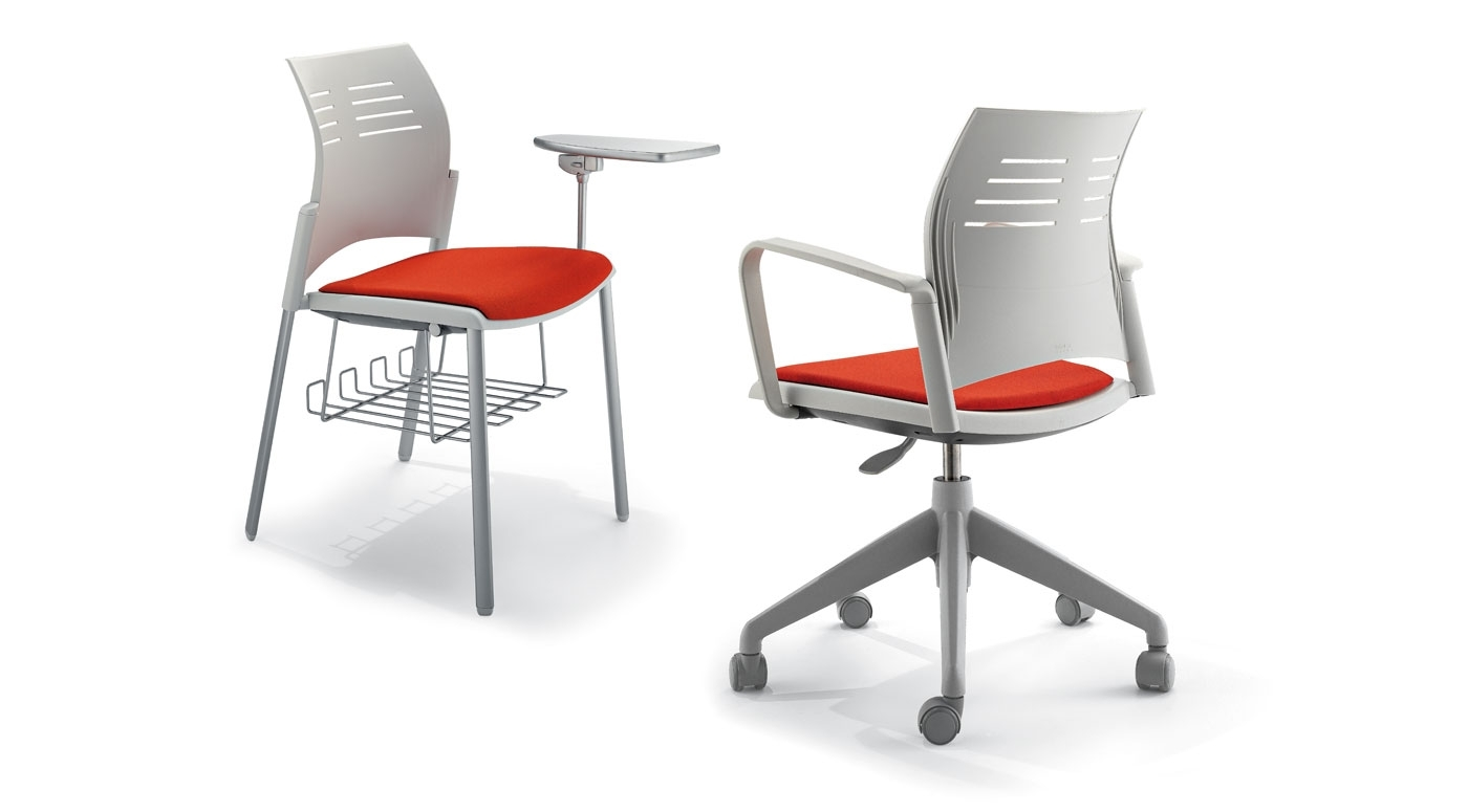Spacio Is A Light And Polyvalent Chair For Different Environments With Best And Newest Cole Ii Orange Side Chairs (View 19 of 20)