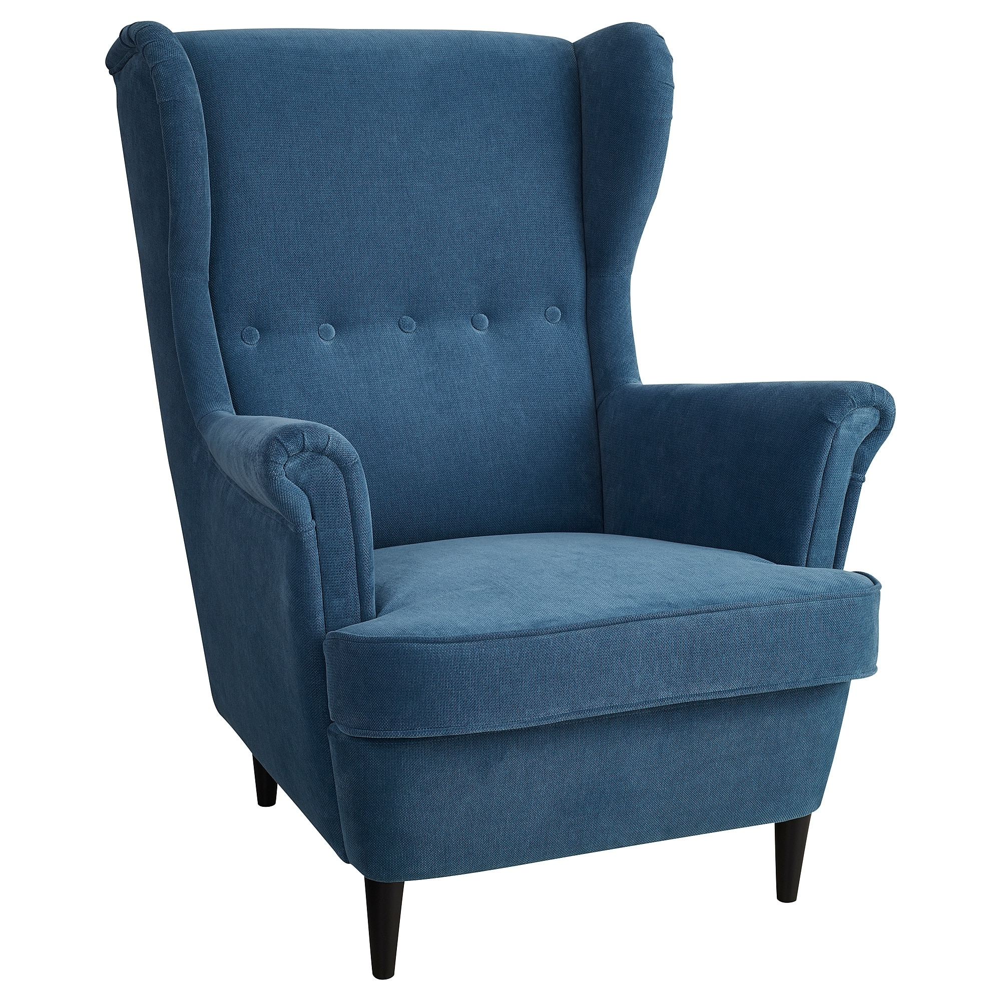 Strandmon Wing Chair Tallmyra Blue – Ikea In Popular Pilo Blue Side Chairs (View 6 of 20)