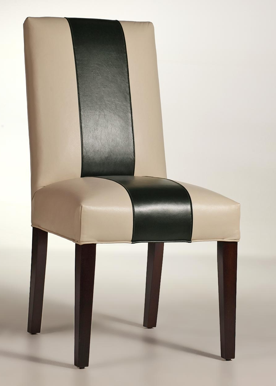 Sussex Leather Side Chair – Contemporary Dining Chair With Regard To Well Known Macie Side Chairs (View 9 of 20)