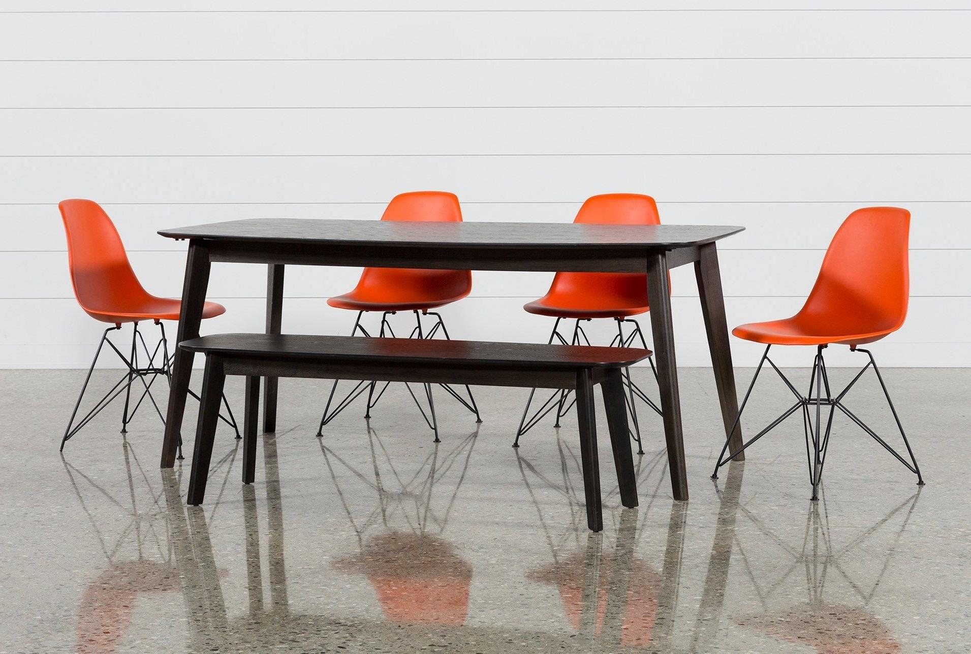 Swift 6 Piece Rectangular Dining Set With Alexa Firecracker Side Pertaining To Fashionable Alexa Firecracker Side Chairs (View 19 of 20)