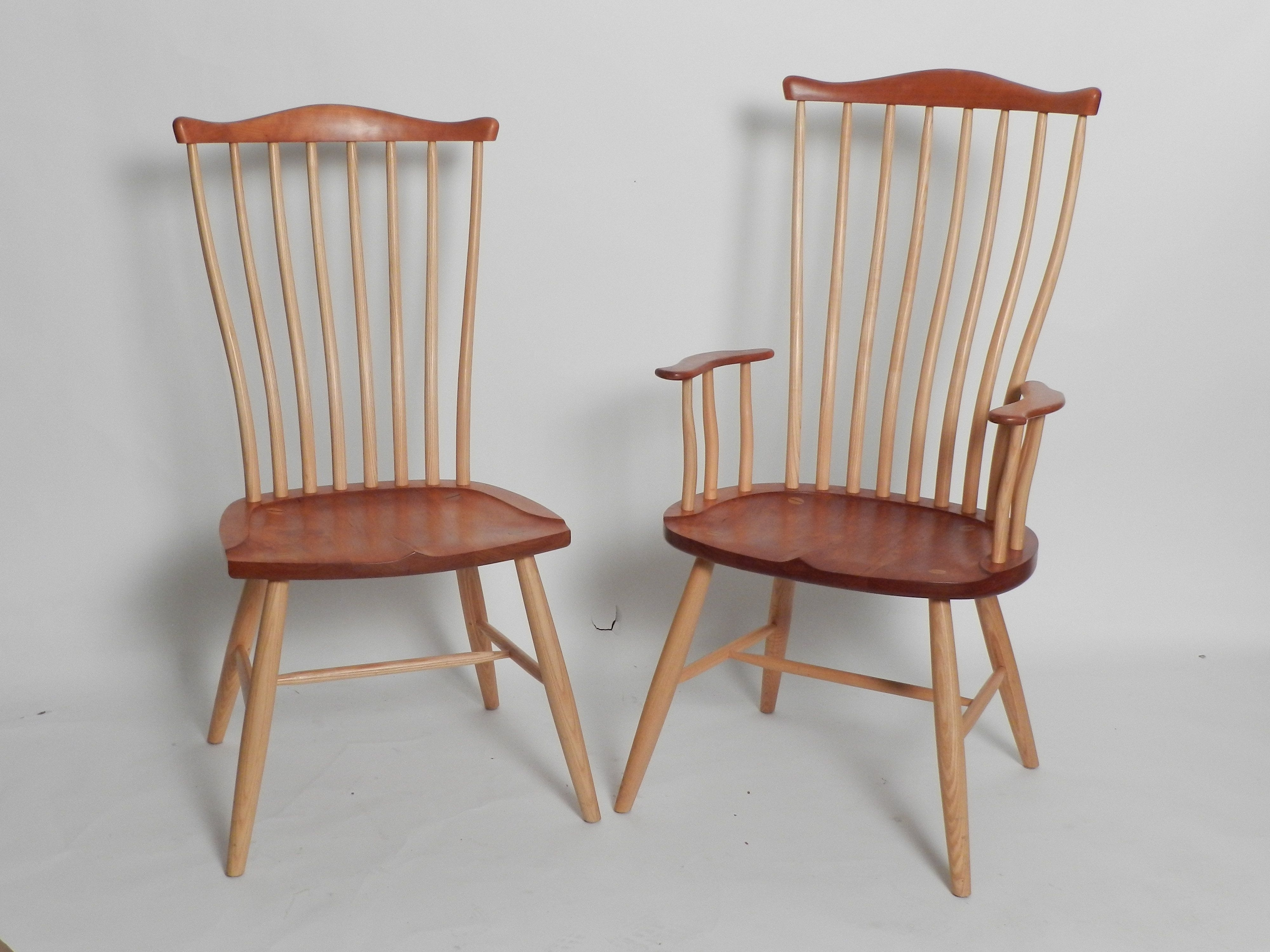 Swift Side Chairs Regarding 2018 Set Of Twelve Stephen Swift Dining Cherry And Maple Dining Chairs (View 17 of 20)