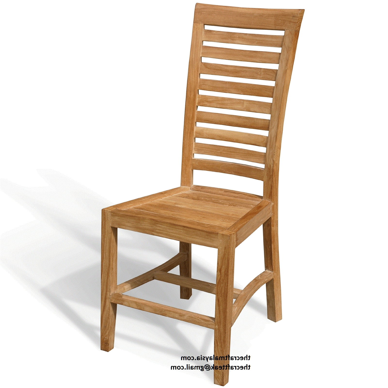 Teak Wood Bedroom Furniture Malaysia : #teakwood Furniture Malaysia For Latest Natural Brown Teak Wood Leather Dining Chairs (View 17 of 20)