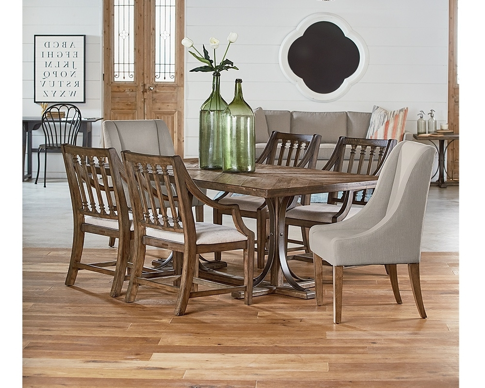 Traditional Dining With Revival Chairs : Gamburgs Furniture Throughout Fashionable Magnolia Home Revival Jo's White Arm Chairs (View 19 of 20)