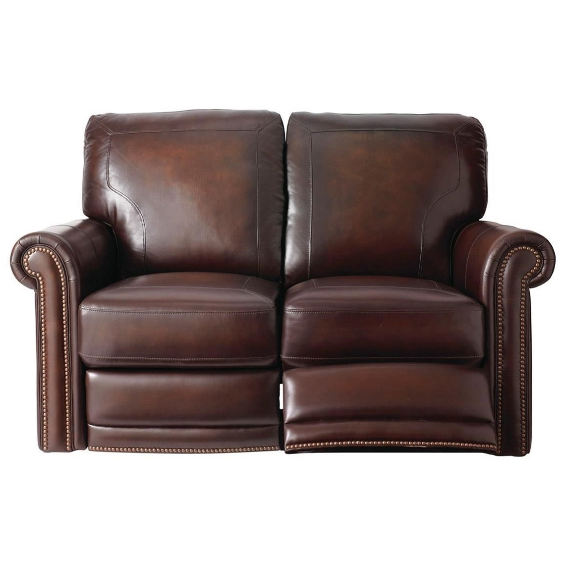 Traditional Reclining Love Seat – Hamiltonbassett – Wilcox In Recent Magnolia Home Hamilton Saddle Side Chairs (View 11 of 20)
