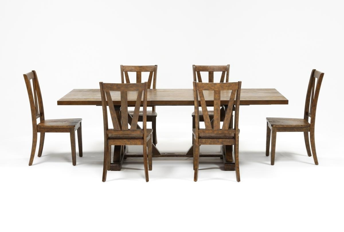 Trendy Chandler 7 Piece Extension Dining Set W/wood Side Chairs (View 17 of 20)