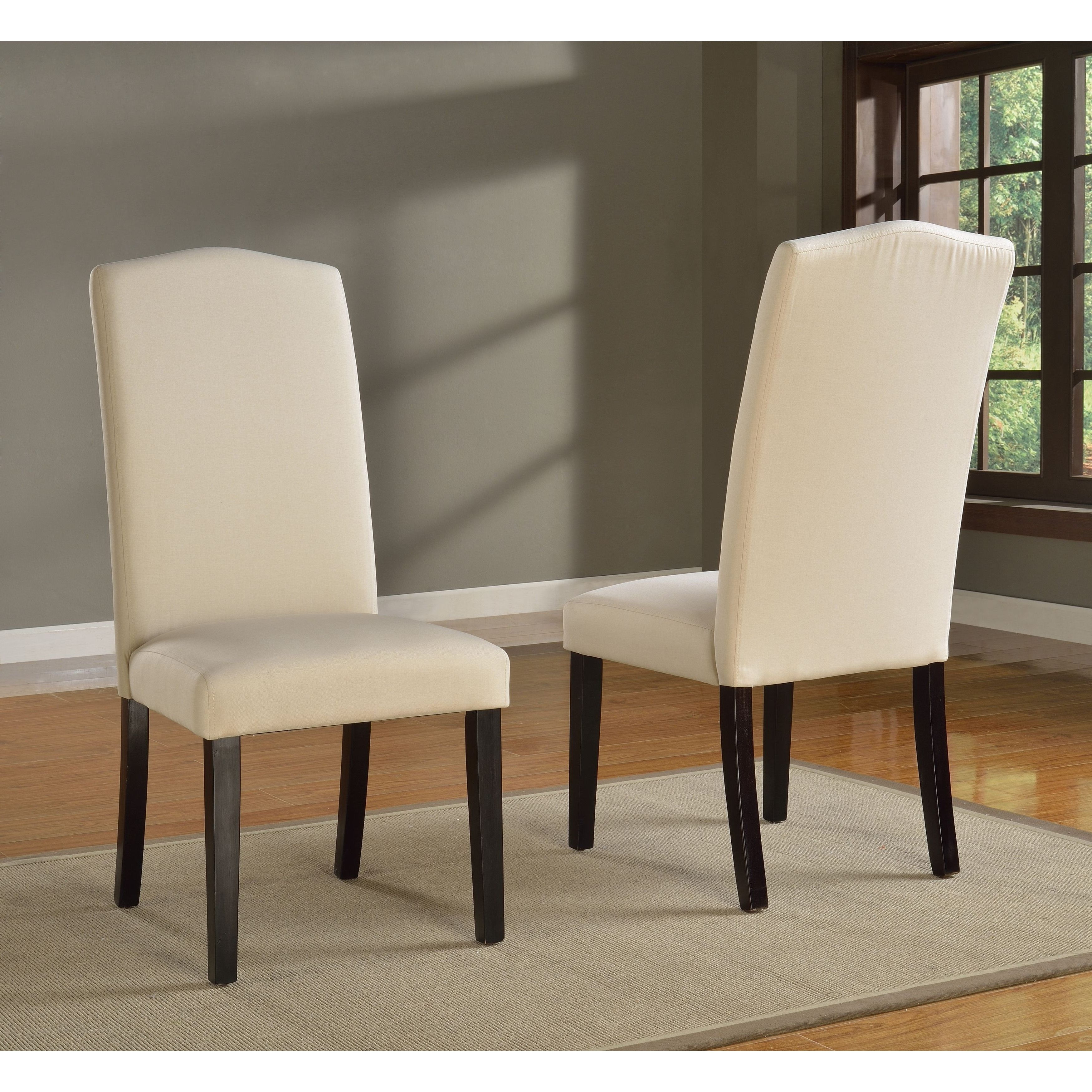 Trendy Garten Marble Skirted Side Chairs Set Of 2 Inside Shop Domusindo Slipcovered Camelback Dining Chair (Set Of 2) – Free (View 17 of 20)