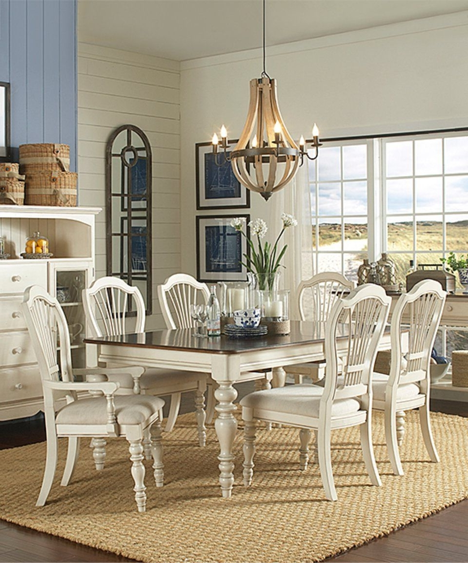 Trendy Take A Look At This White Pine Island Extension Dining Table & Six In Pine Wood White Dining Chairs (View 14 of 20)