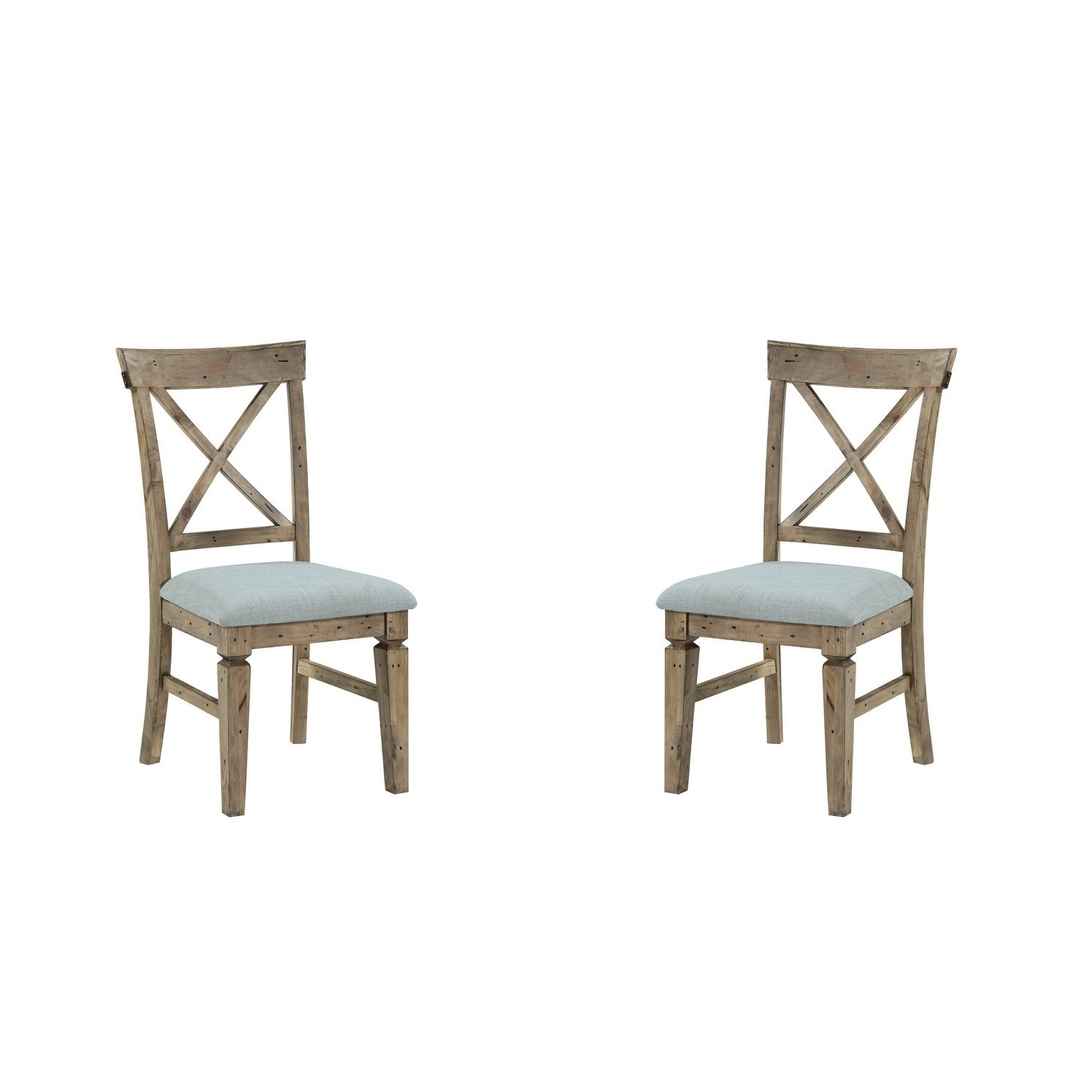 Valencia Side Chairs With Upholstered Seat With Regard To Widely Used Shop Emerald Home Valencia Cross Back Upholstered Seat Dining Chair (Gallery 13 of 20)