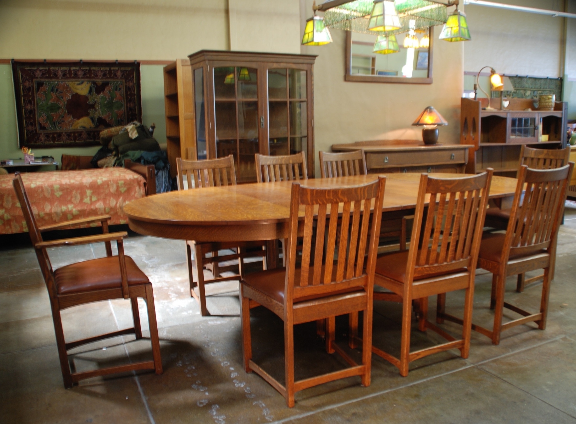 Voorhees Craftsman Mission Oak Furniture – Lifetime Furniture With Most Recent Craftsman Side Chairs (View 19 of 20)