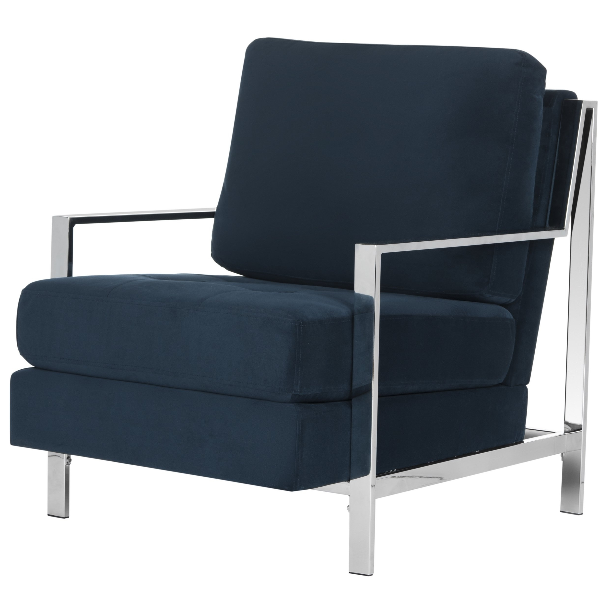 Walden Upholstered Arm Chairs Intended For Current Shop Mid Century Modern Glam Velvet Navy Blue Club Chair – Free (View 12 of 20)