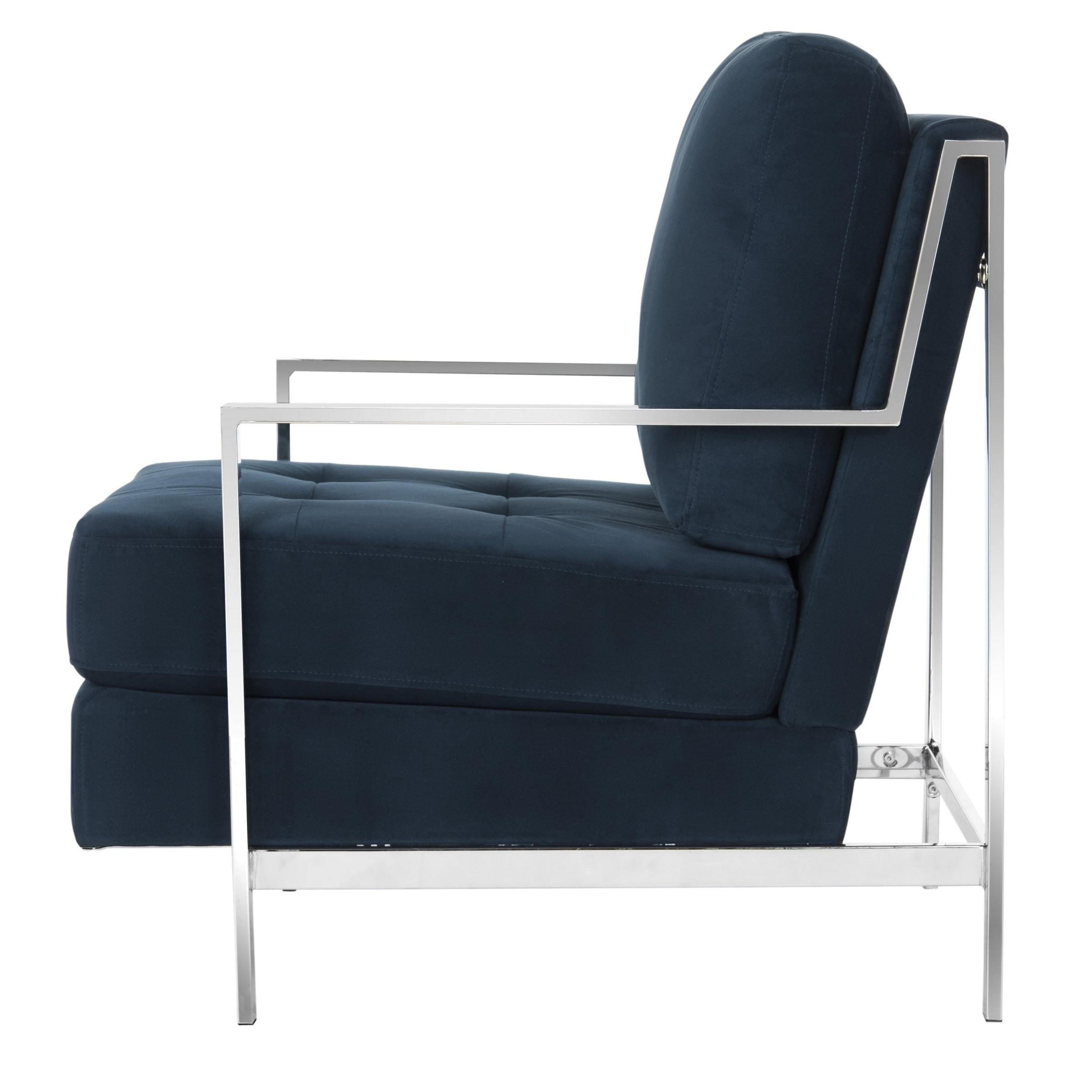Walden Upholstered Arm Chairs With Regard To Current Shop Mid Century Modern Glam Velvet Navy Blue Club Chair – Free (View 4 of 20)