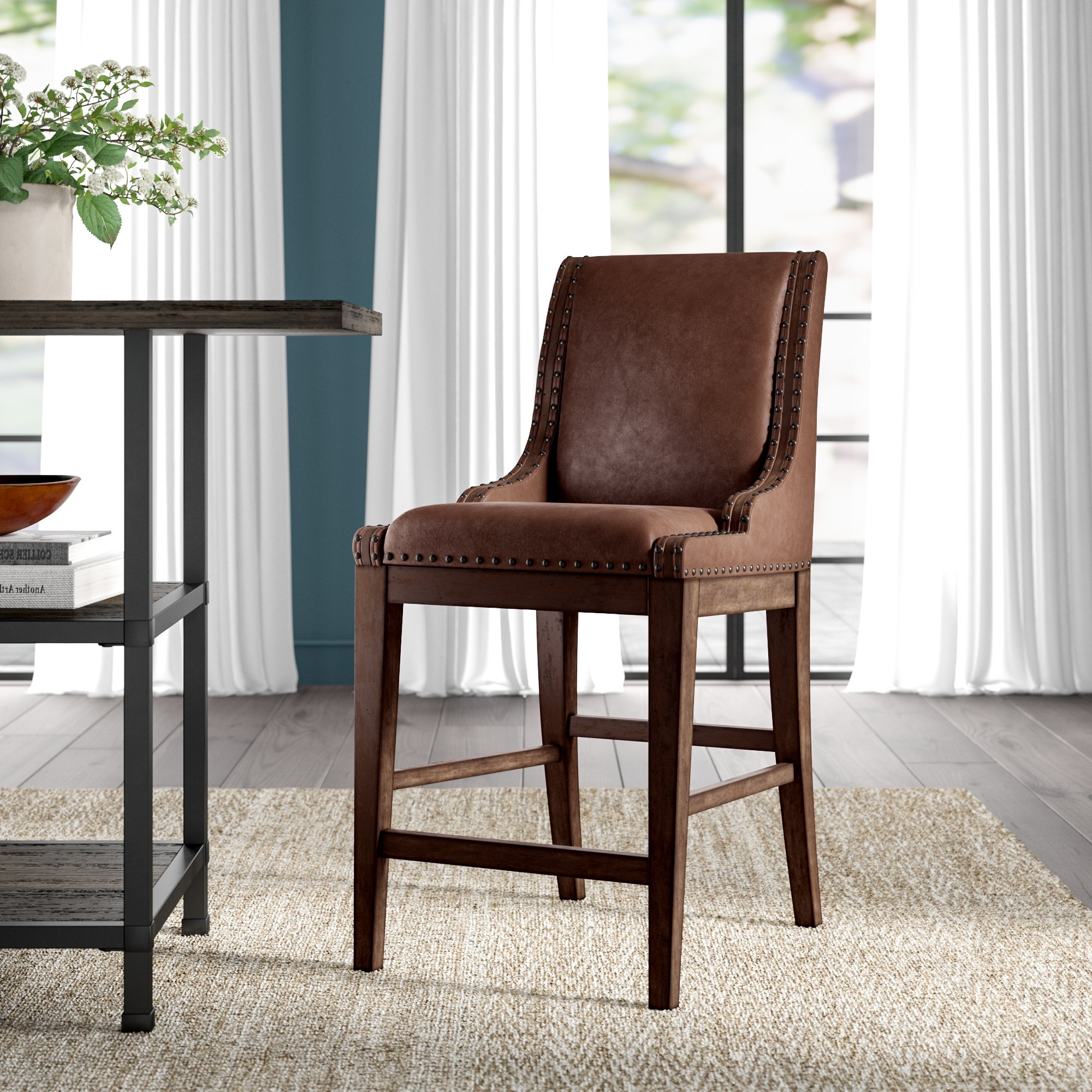 Wayfair In Trendy Caira Black Upholstered Arm Chairs (View 18 of 20)
