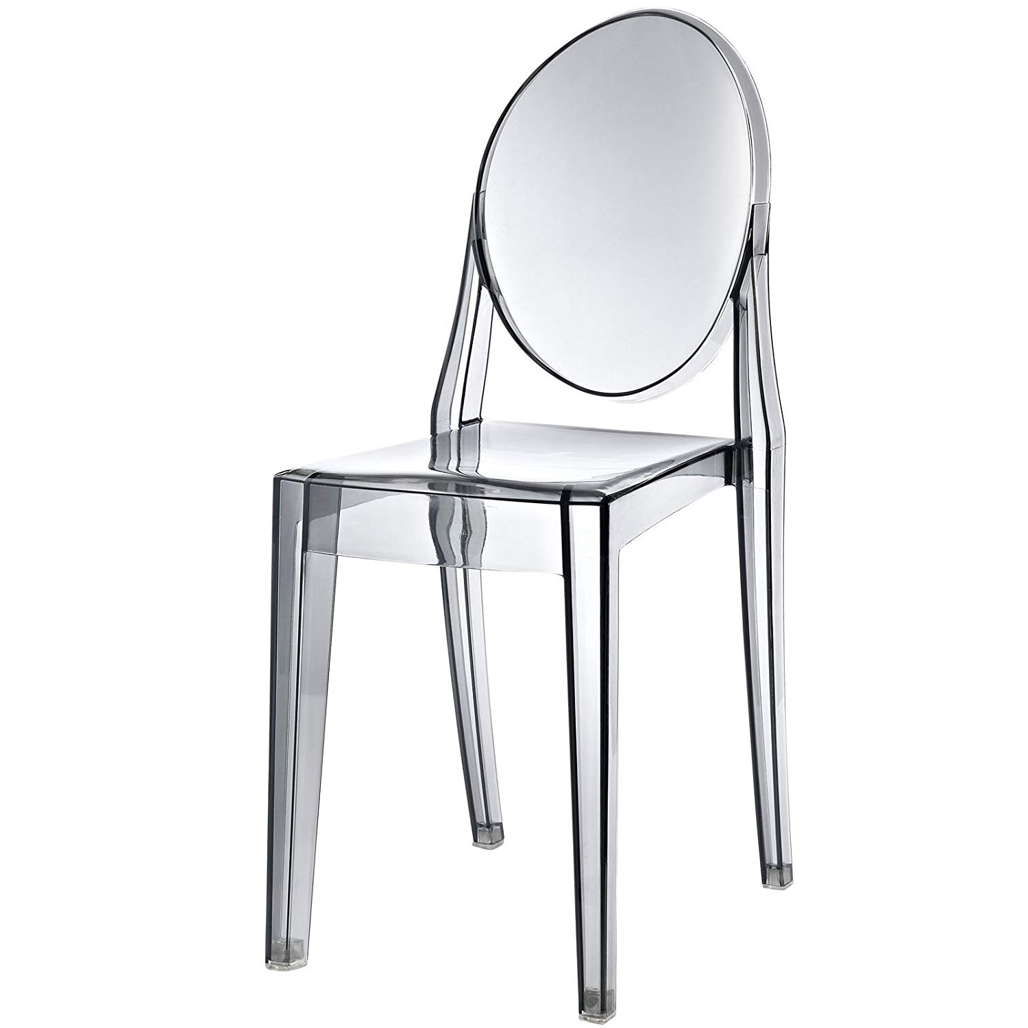 Well Known Amazon – Modway Casper Dining Side Chair In Smoked Clear – Chairs Regarding Mandy Paper White Side Chairs (View 8 of 20)