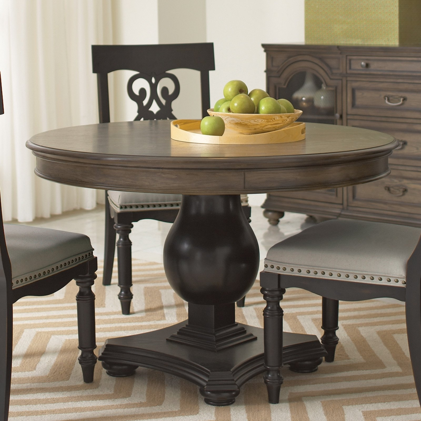 Well Known Belmeade Round Dining Tableriverside – Lewis Furniture Store Regarding Belmeade Side Chairs (View 19 of 20)