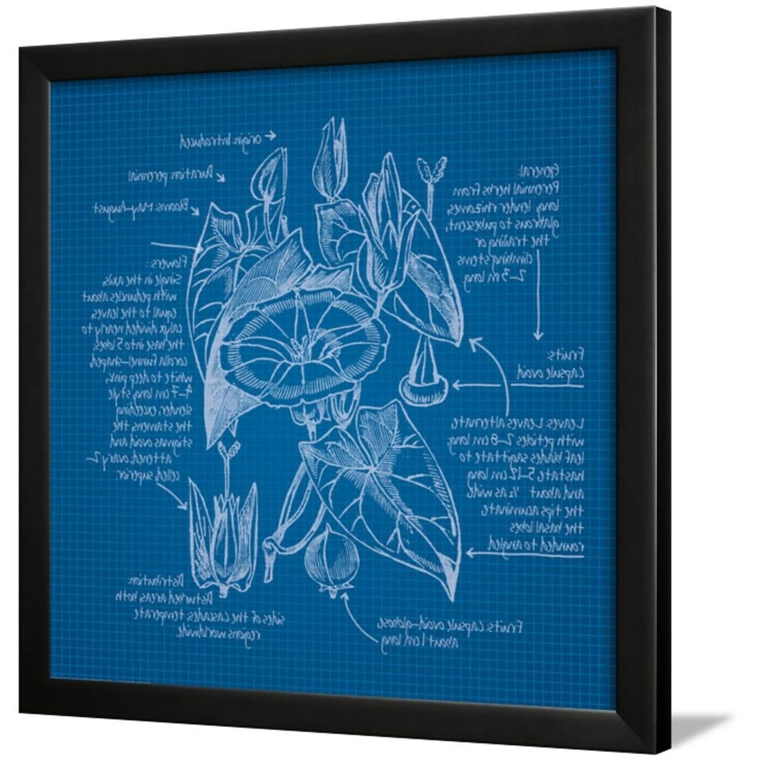 Well Known Celler Teal Side Chairs Pertaining To Blueprints 3 Framed Print Wall Artnobleworks Inc (View 18 of 20)