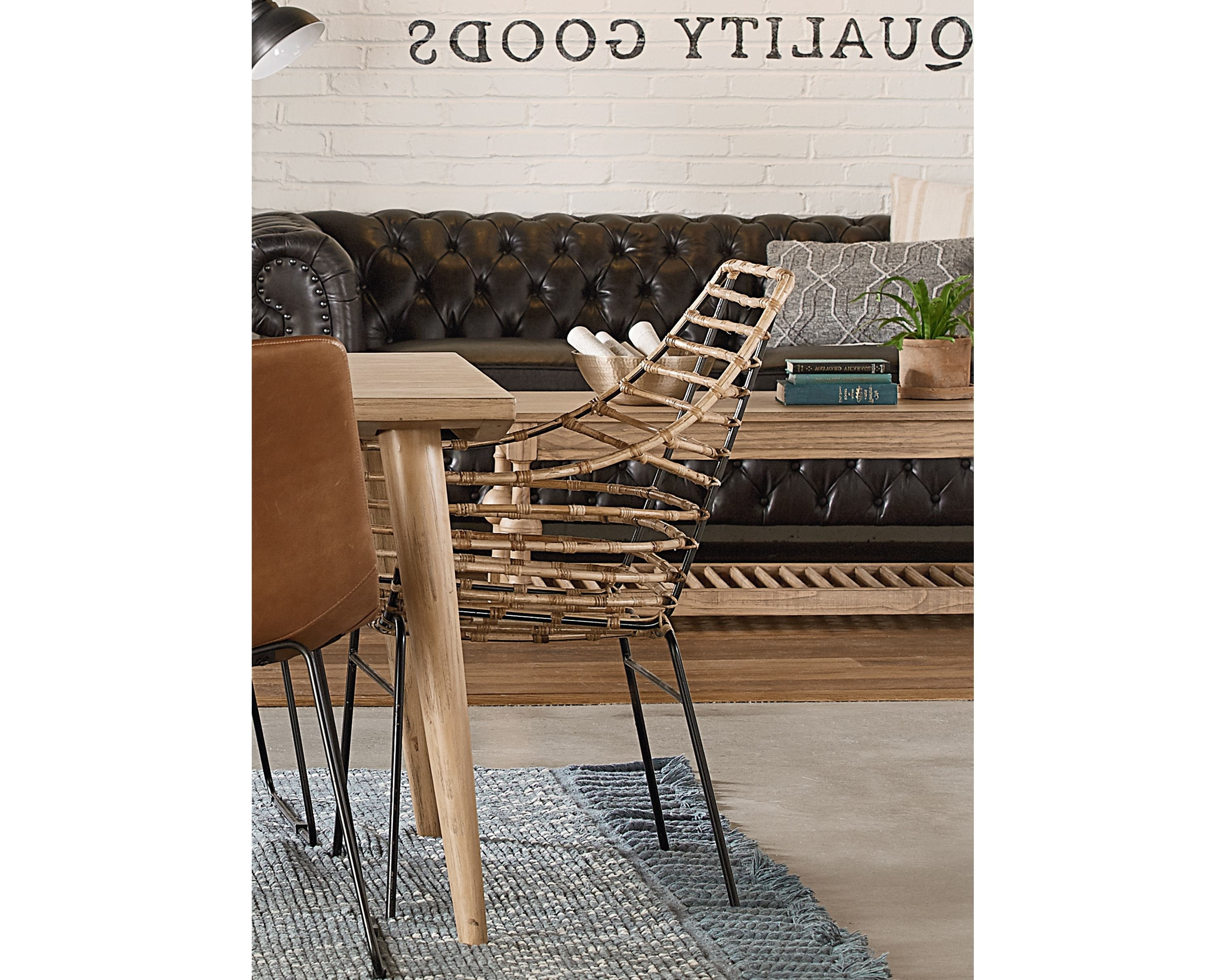 Well Known Entwine Rattan Arm Chair – Magnolia Home Pertaining To Magnolia Home Entwine Rattan Side Chairs (View 2 of 20)