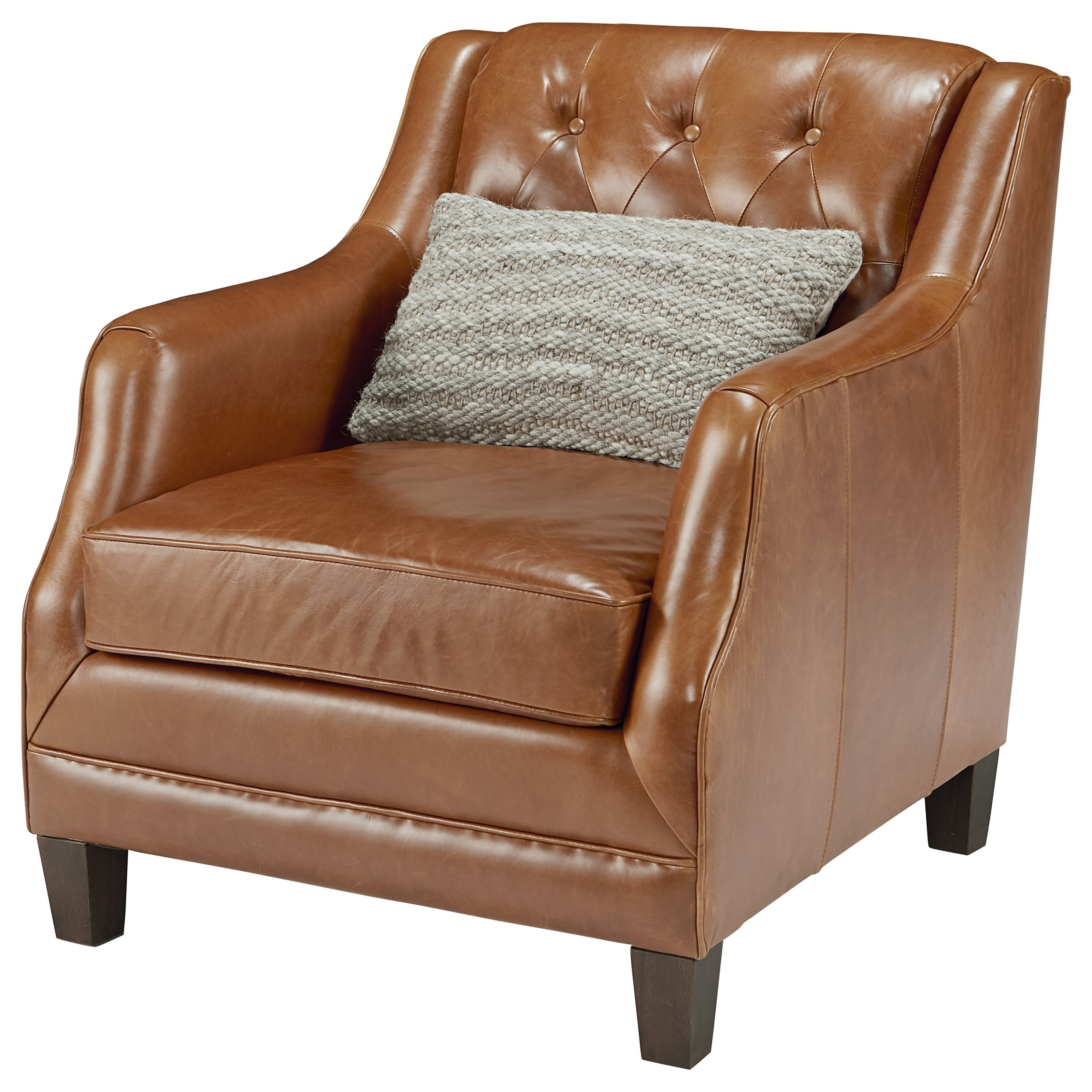 Well Known Magnolia Home Revival Arm Chairs Throughout Leather Upholstered Chair With Button Tuftingmagnolia Home (View 8 of 20)