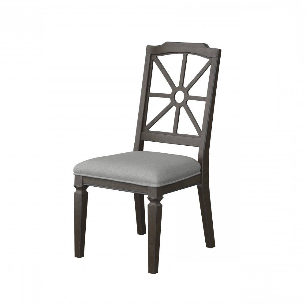 Well Known Market Side Chairs For Mikalene – Brown Metallic – Dining Uph Side Chair (2/cn) (View 11 of 20)