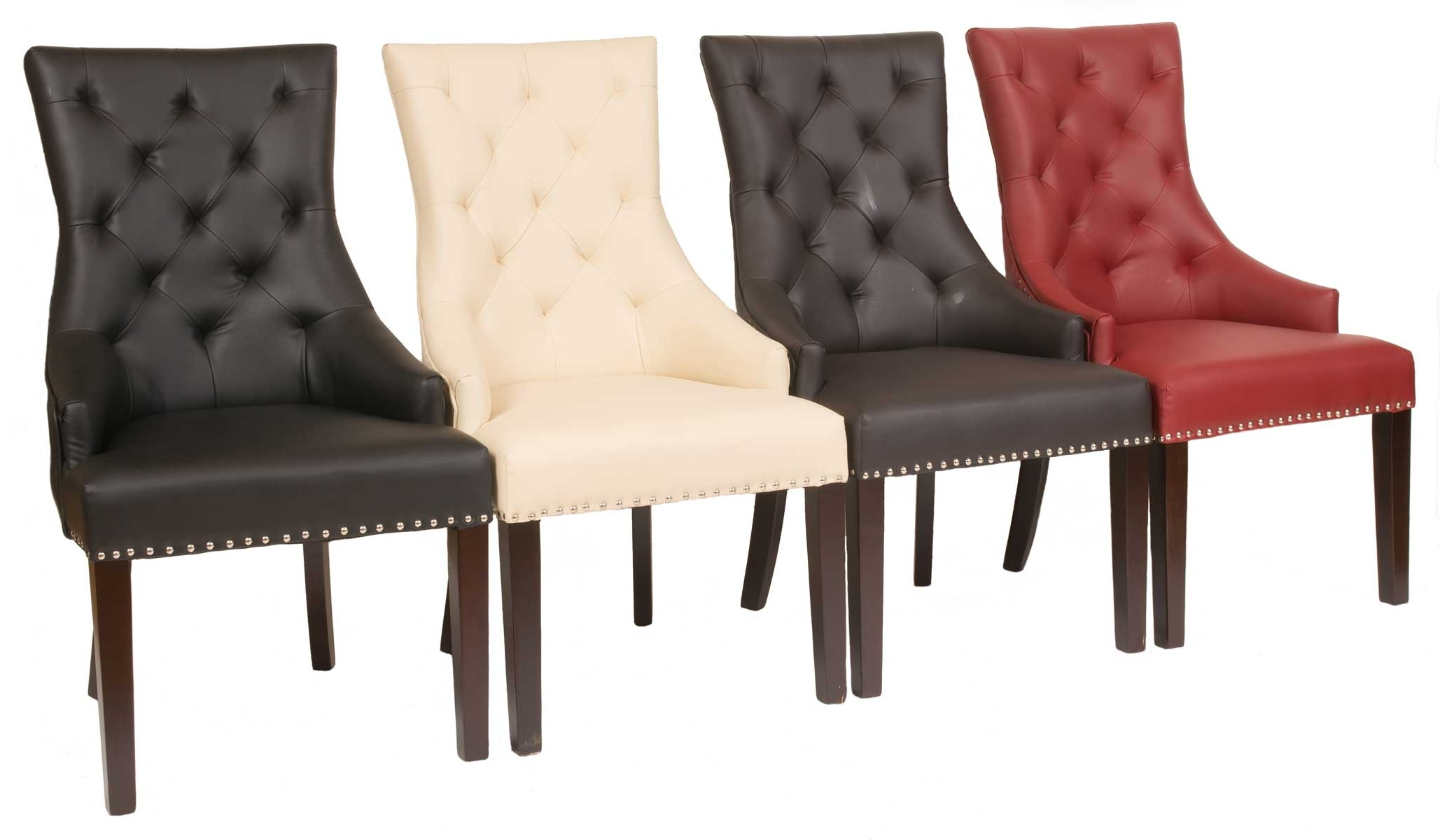 Well Known Quilted Brown Dining Chairs For Fontwell Matt Smart Leather Dining Chair Buttoned Back – Smart (View 20 of 20)