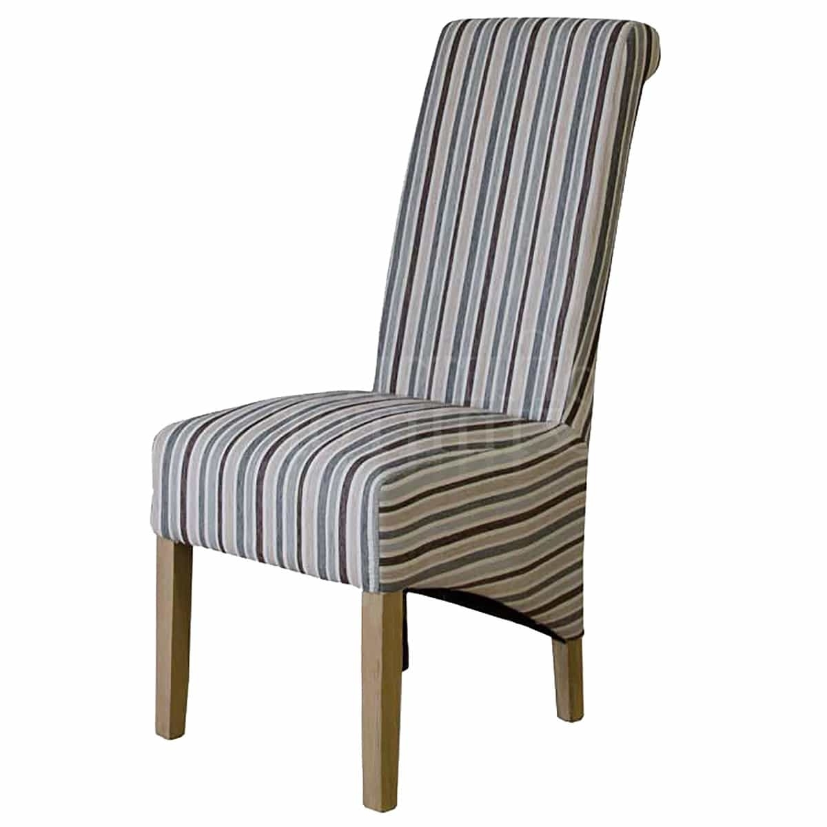 Well Known Rollback Duck Egg Blue Striped Fabric Dining Chair – Furniture And For Blue Stripe Dining Chairs (View 18 of 20)