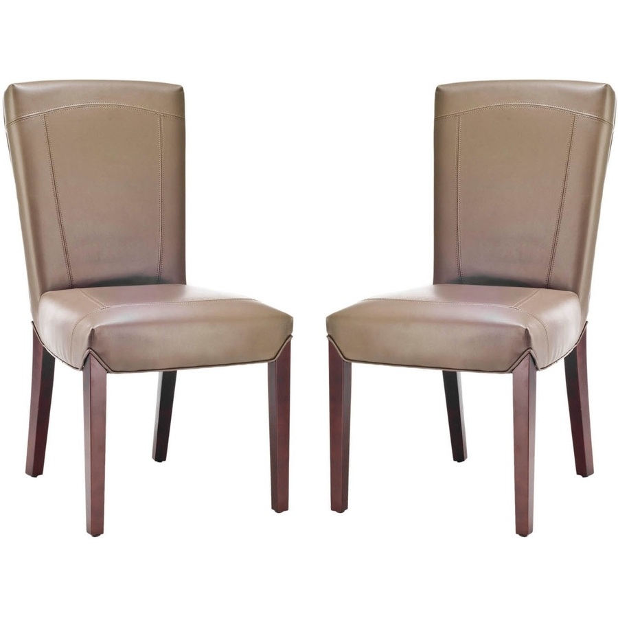 Well Known Shop Safavieh Set Of 2 Ken Side Casual Clay Faux Leather Accent Throughout Clay Side Chairs (View 18 of 20)