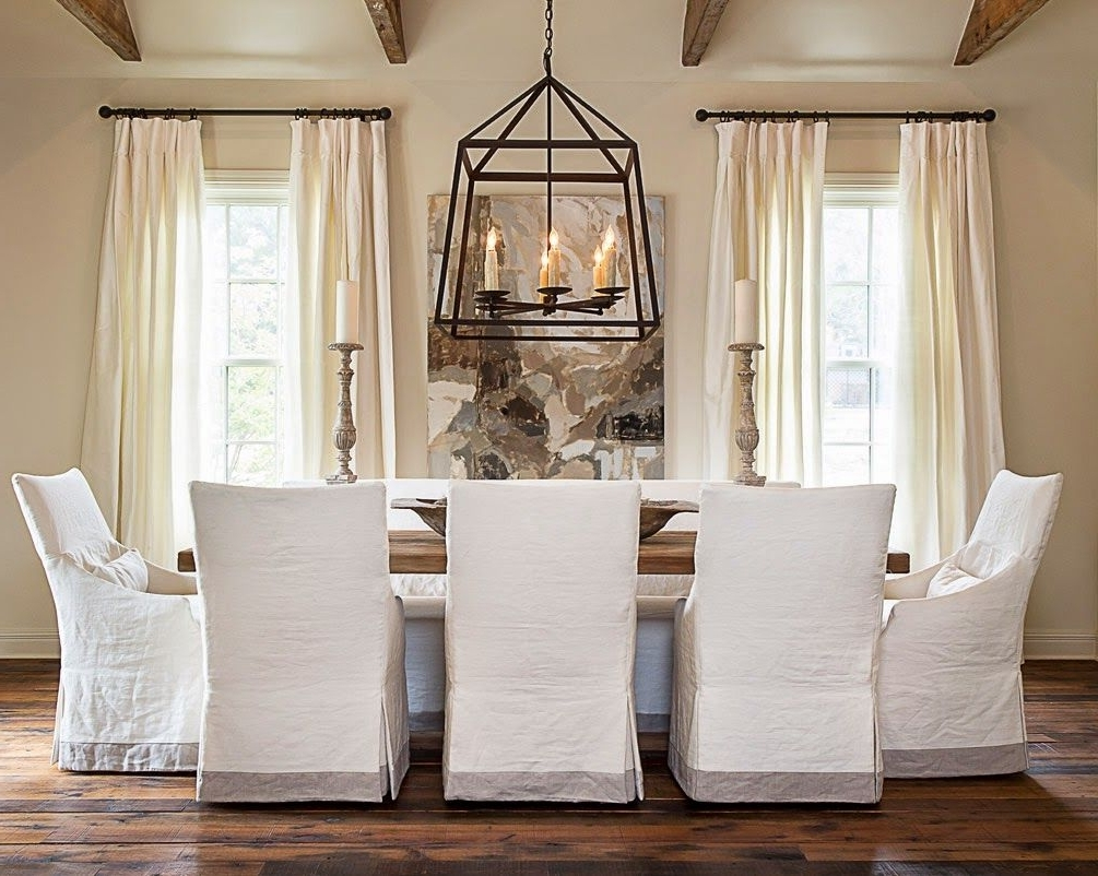 Well Known Simple Details: Ikea Henriksdal Chair…this Slipcover With The With Pearson White Slipcovered Side Chairs (View 18 of 20)