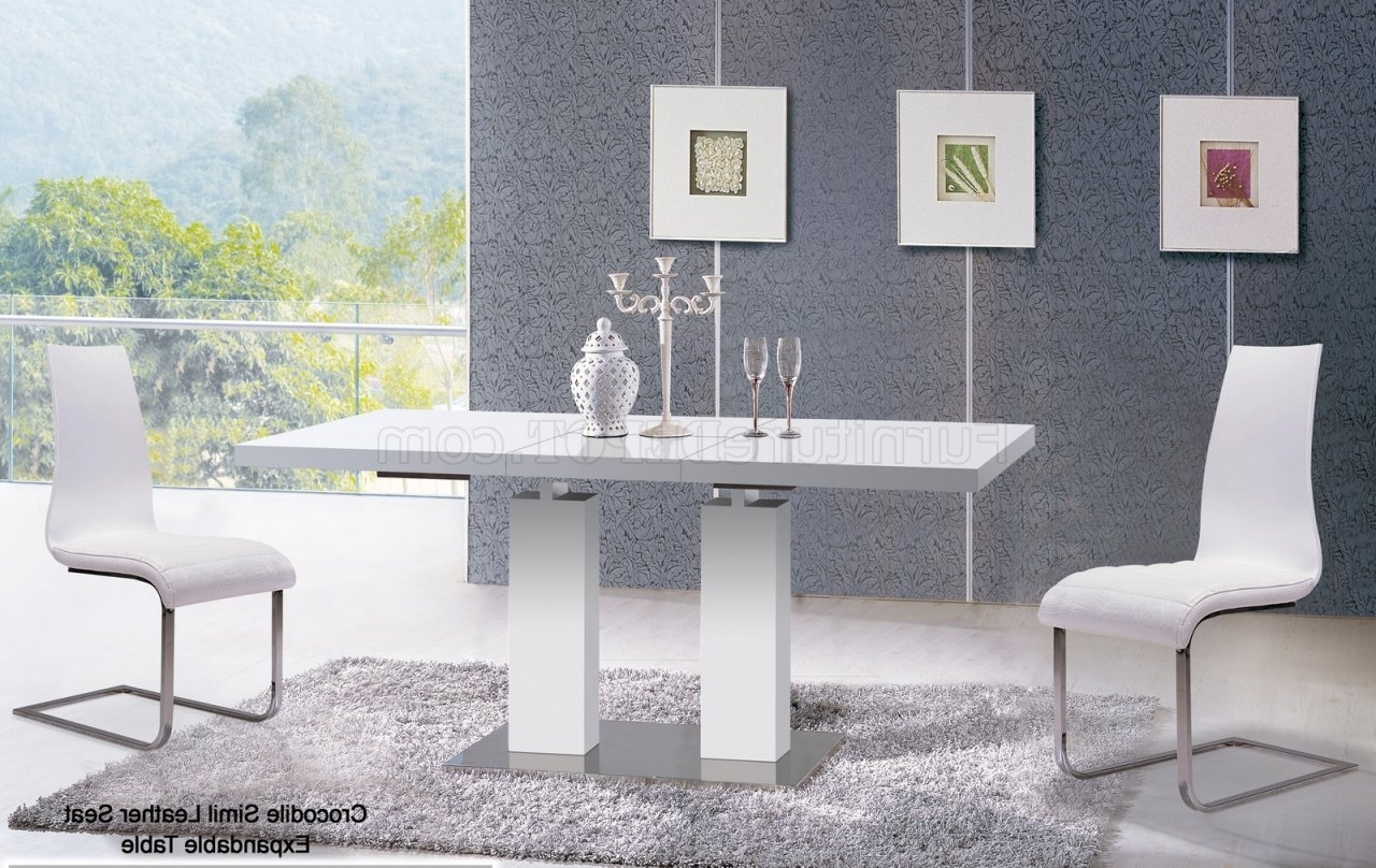 Well Known Va9830 Delfina Dining Table In Whiteat Home Usa W/options Within Delfina Side Chairs (View 9 of 20)