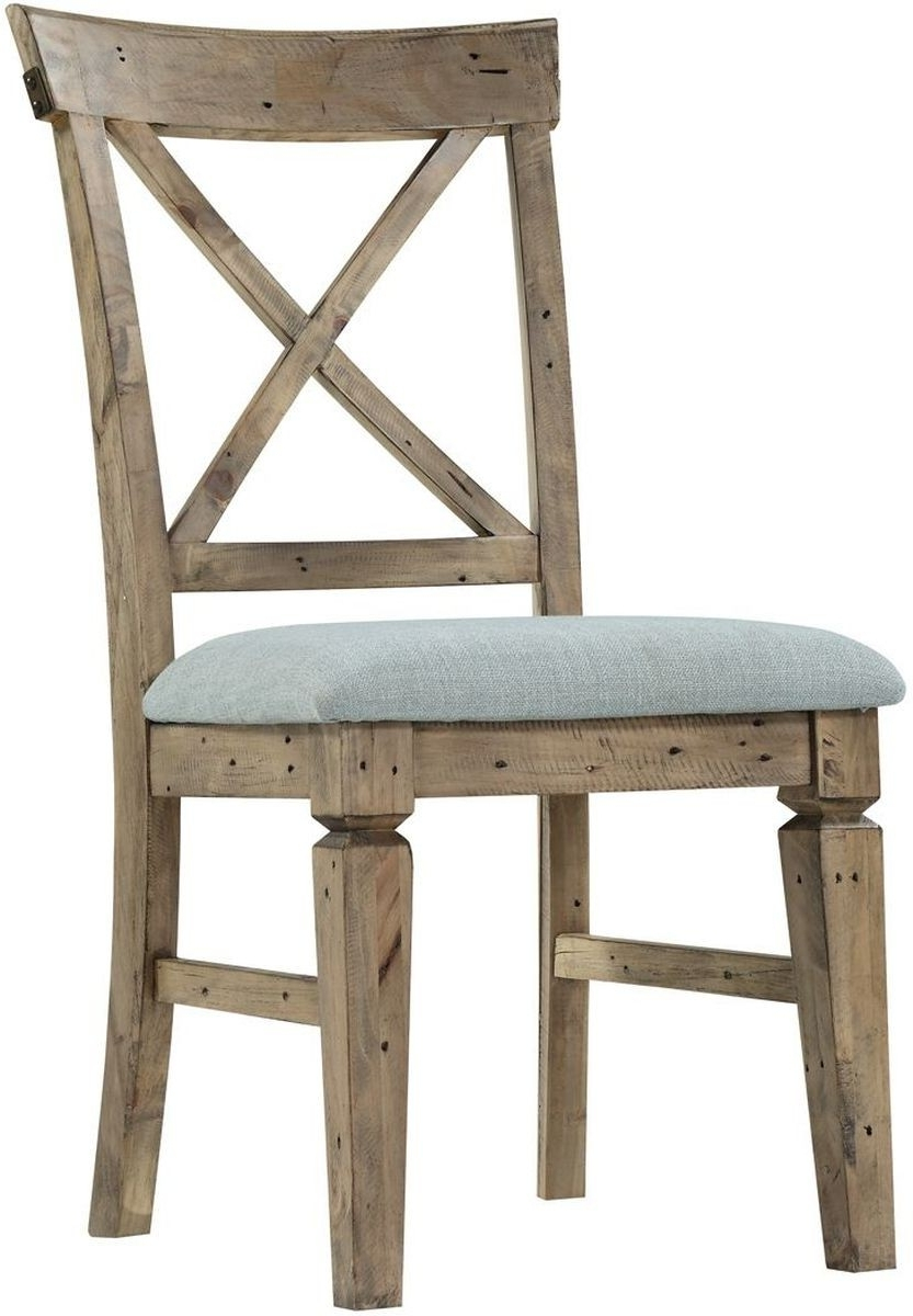 Well Known Valencia Side Chairs Throughout Emerald Home Furnishings Valencia Side Chair Cross Back With (View 20 of 20)