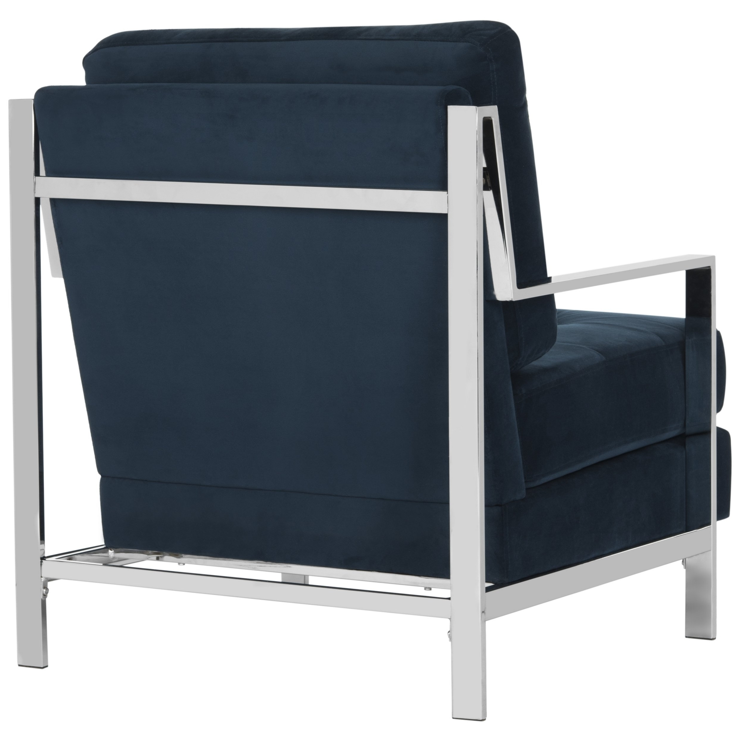 Well Known Walden Upholstered Arm Chairs Regarding Shop Mid Century Modern Glam Velvet Navy Blue Club Chair – Free (View 18 of 20)