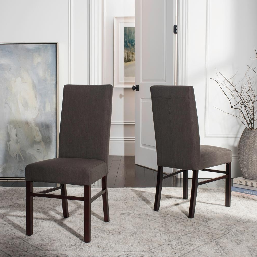 Well Liked Charcoal Dining Chairs With Regard To Safavieh Charcoal Brown Dining Chair (Set Of 2) Hud8205J Set2 – The (View 18 of 20)