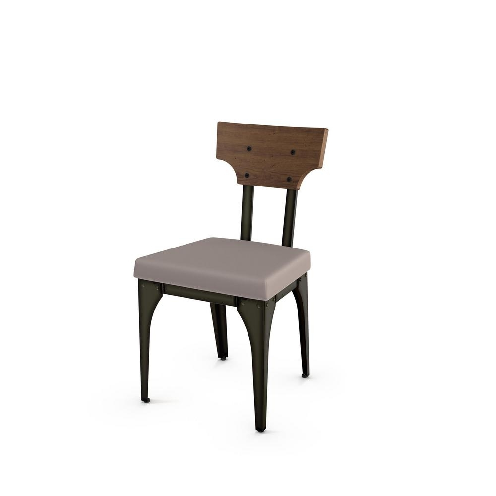 Well Liked Rally Grey Cushion Brown Wood Back Dining Chair (Set Of 2) 31661 Throughout Plywood & Metal Brown Dining Chairs (View 17 of 20)