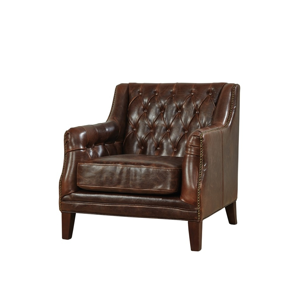 Well Liked Tufted Leather Lounge Chair – Club – Furniture Classics (View 15 of 20)